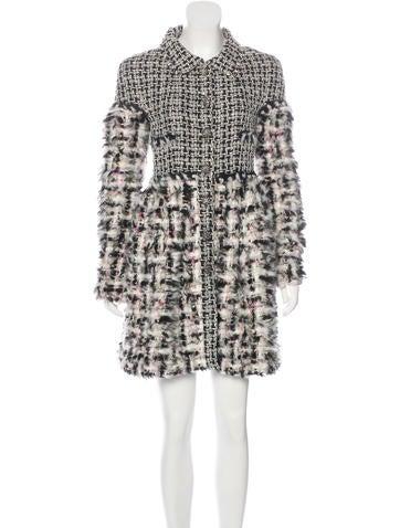 Fantasy Fur Tweed Coat