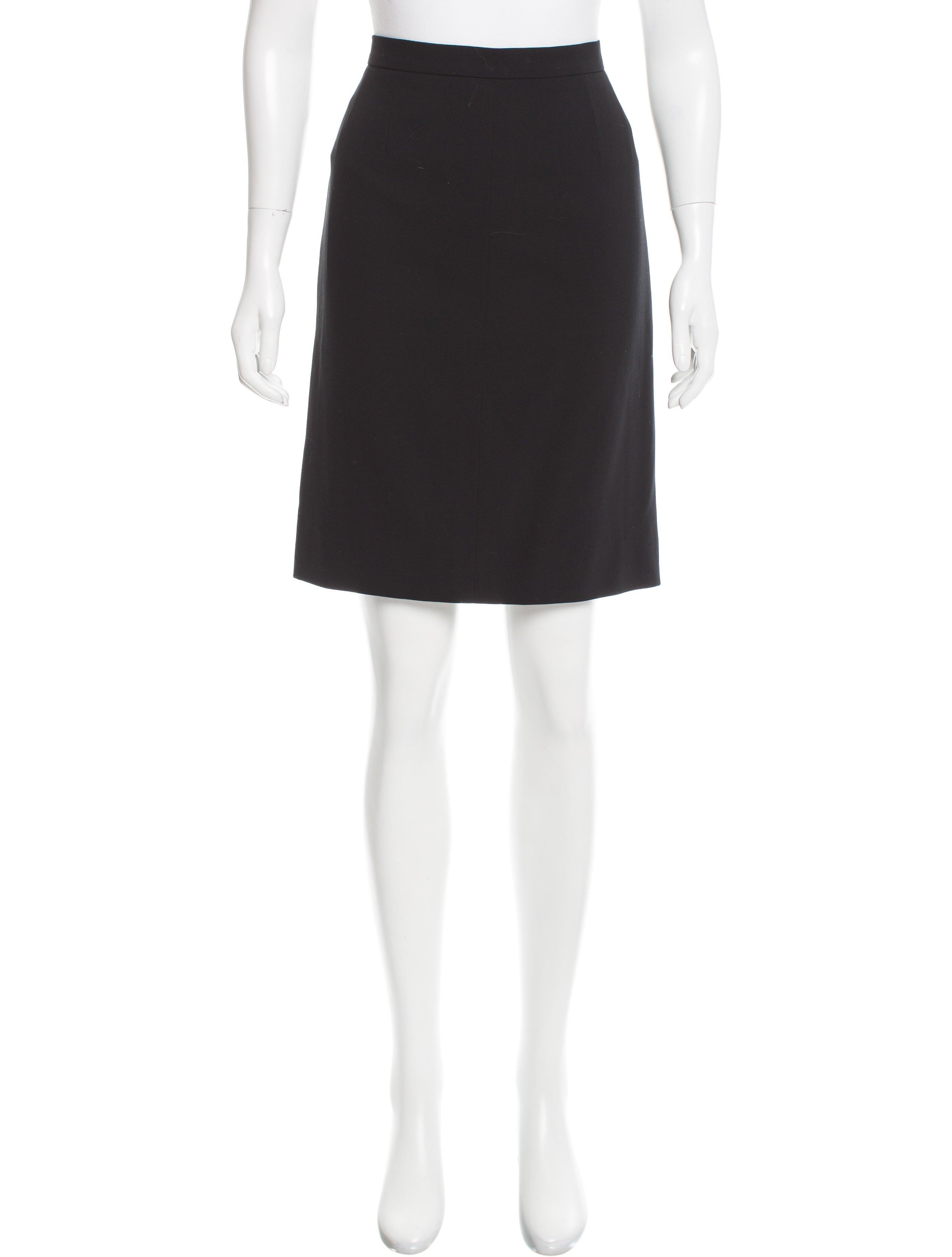 chanel wool knee length skirt clothing cha160407 the