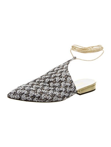 2015 Sequined Wrap-Around Flats