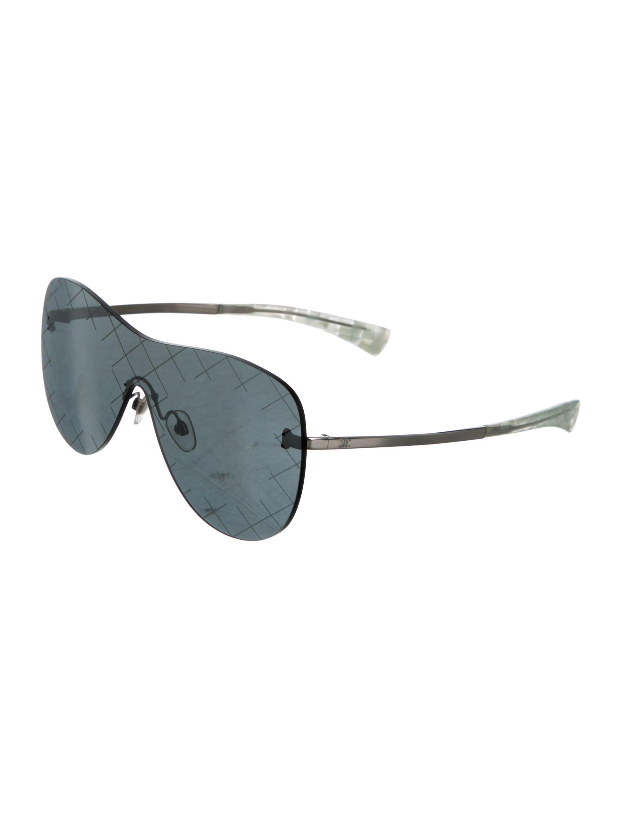 Rimless Chanel Glasses : Chanel Rimless Shield Sunglasses - Accessories - CHA160587 ...