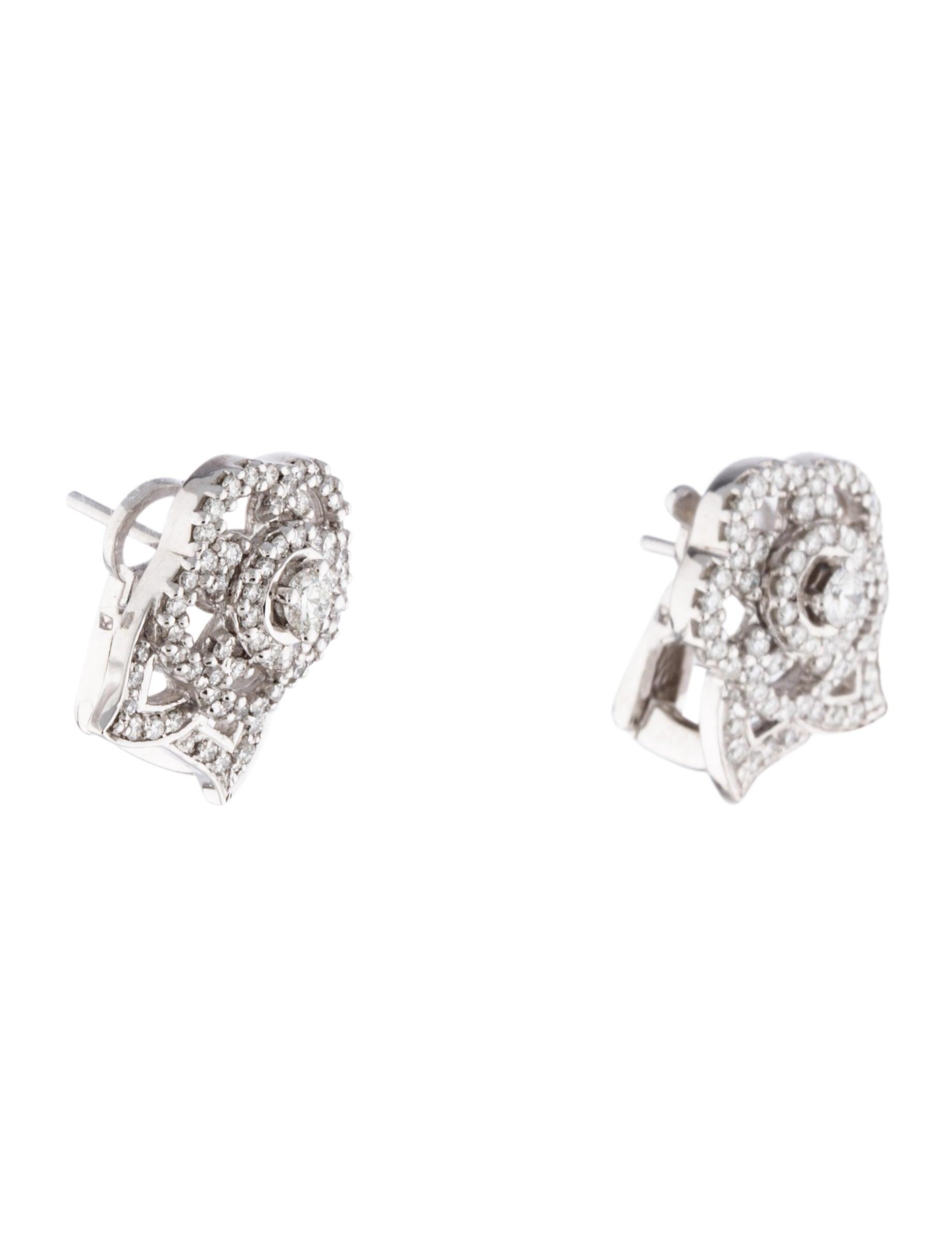 chanel diamond camellia earrings earrings cha160662. Black Bedroom Furniture Sets. Home Design Ideas