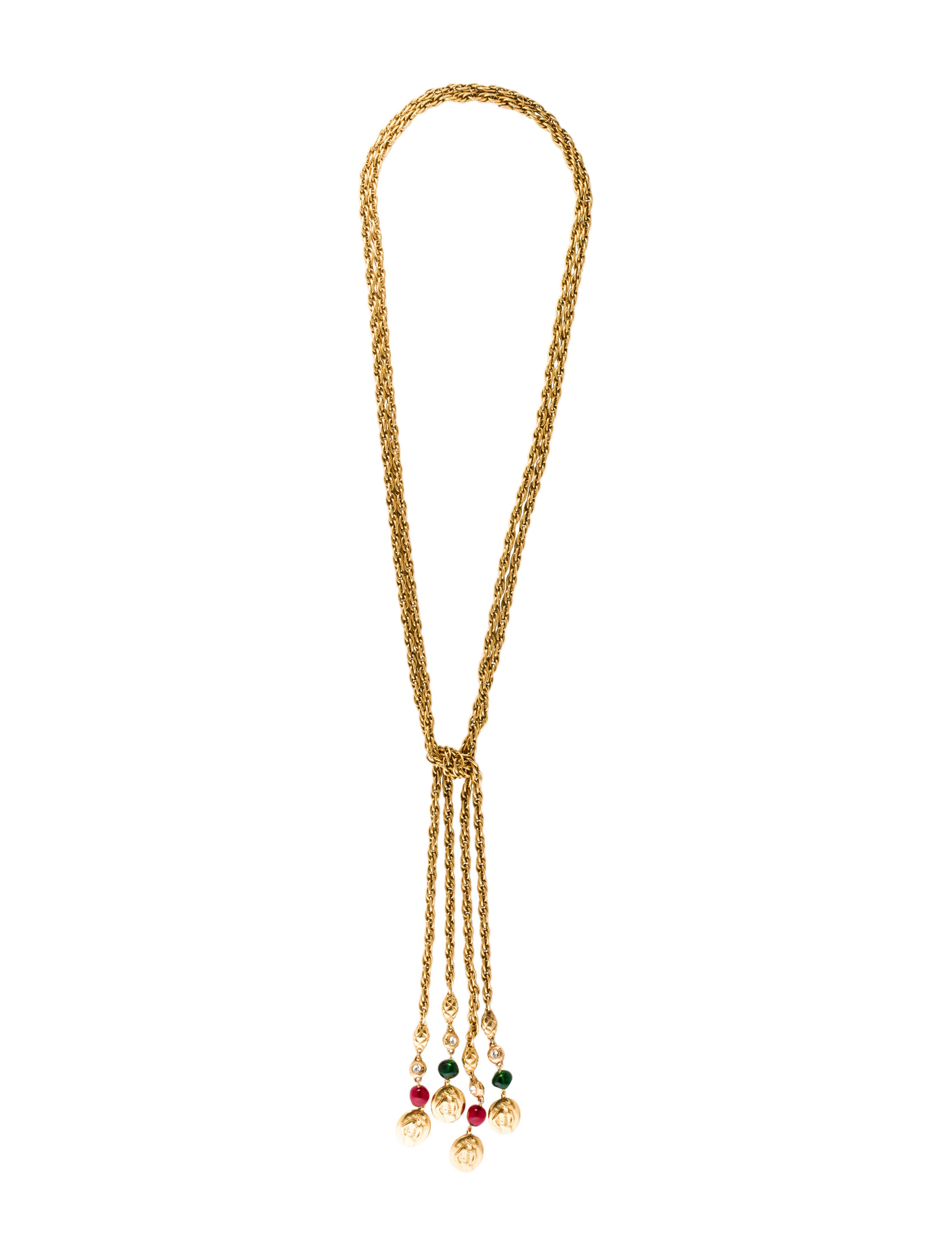 chanel multistrand gripoix lariat necklaces cha160708