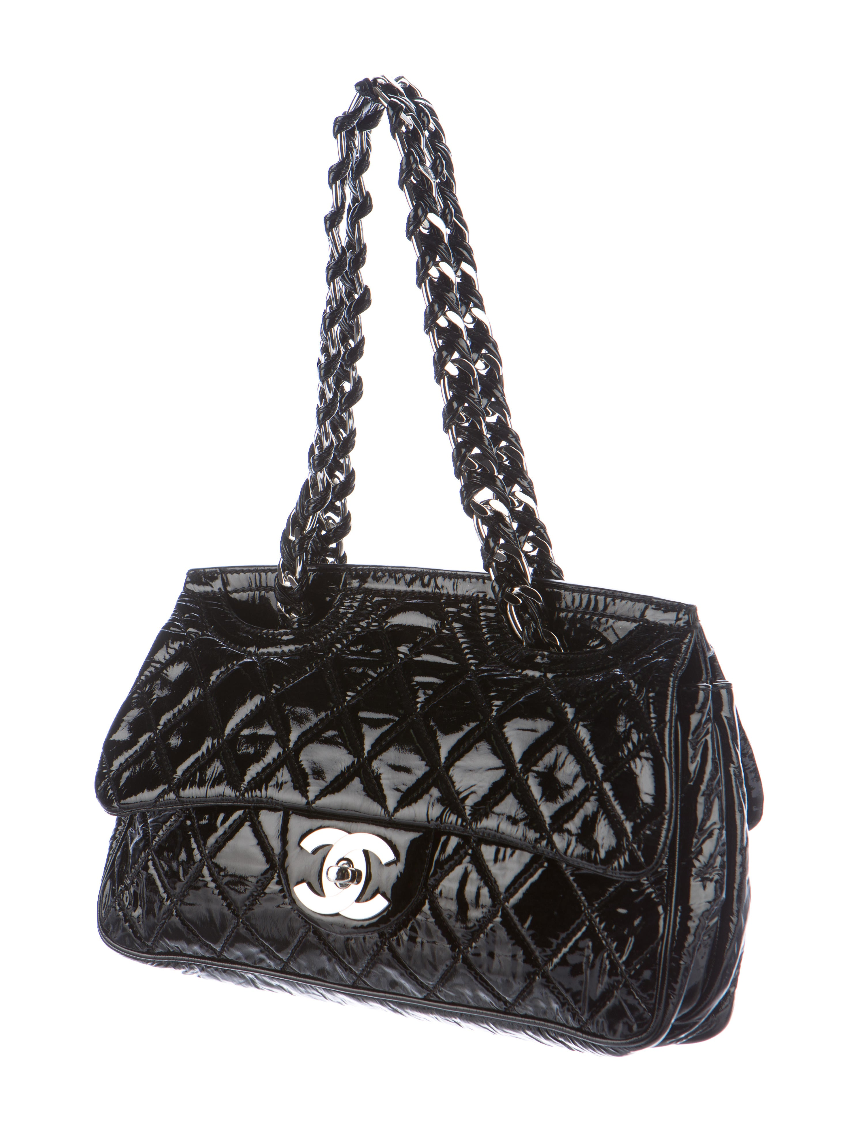07de38f242d2 Chanel Quilted Patent Leather Flap Bag - Handbags - CHA160831 | The RealReal