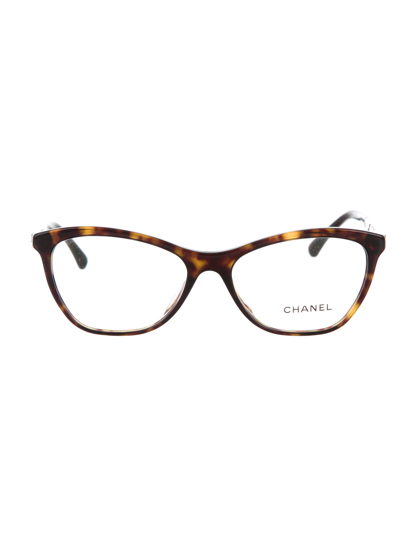chanel cc cat eye eyeglasses w tags accessories