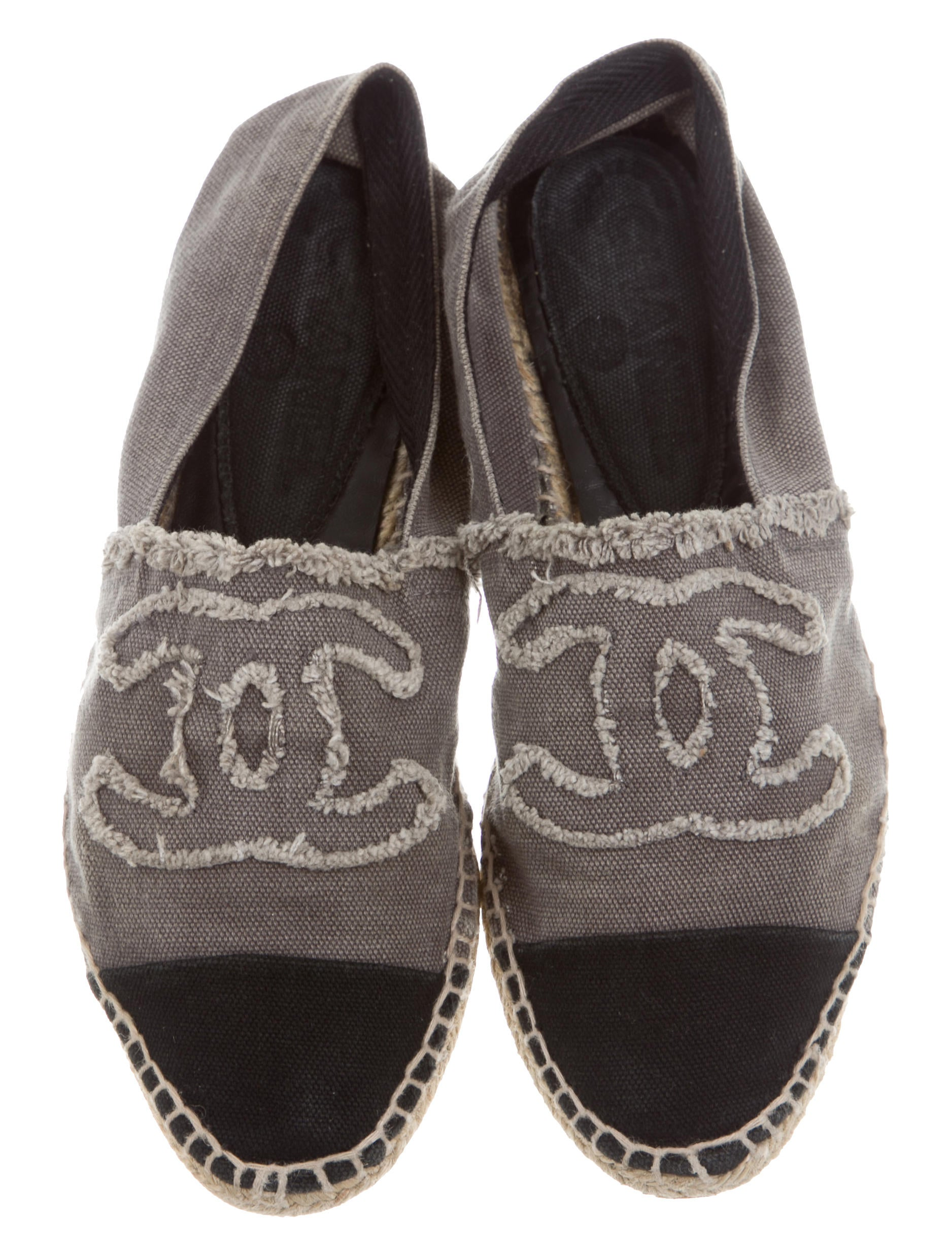 chanel canvas cc espadrilles shoes cha160889 the