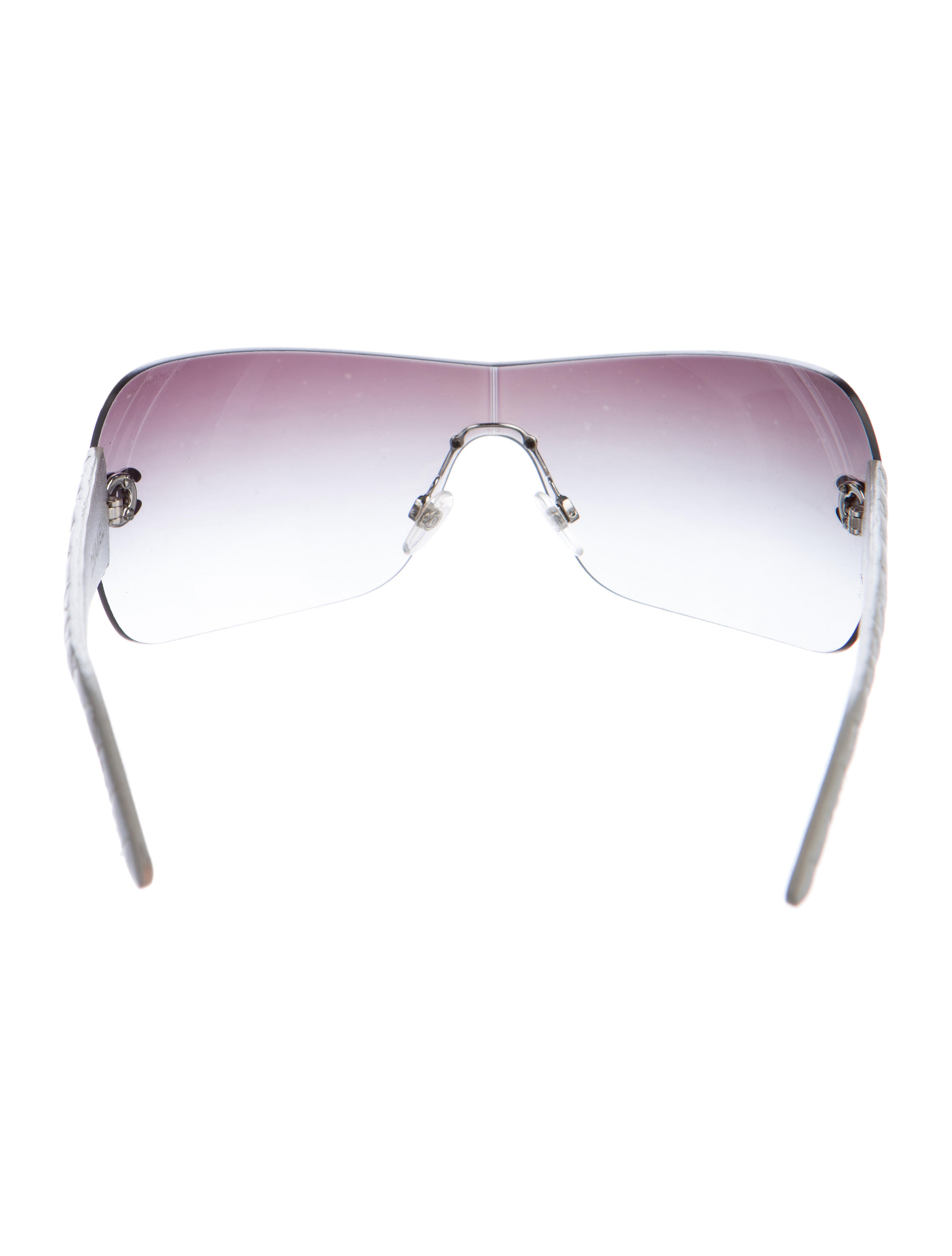 Chanel Glasses Frames Leather : Chanel Quilted Leather Sunglasses - Accessories ...