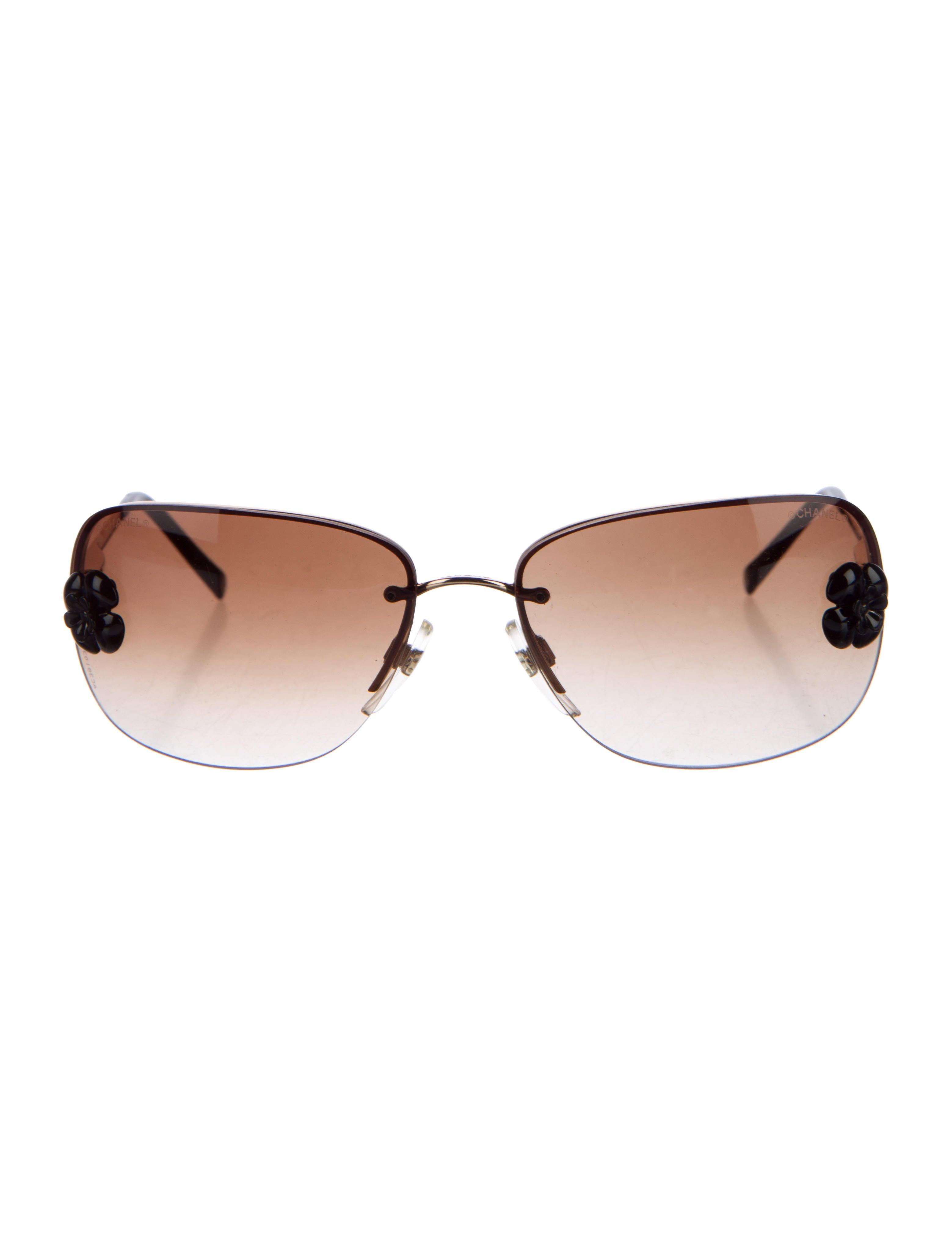 Rimless Chanel Glasses : Chanel Rimless Camellia Sunglasses - Accessories ...