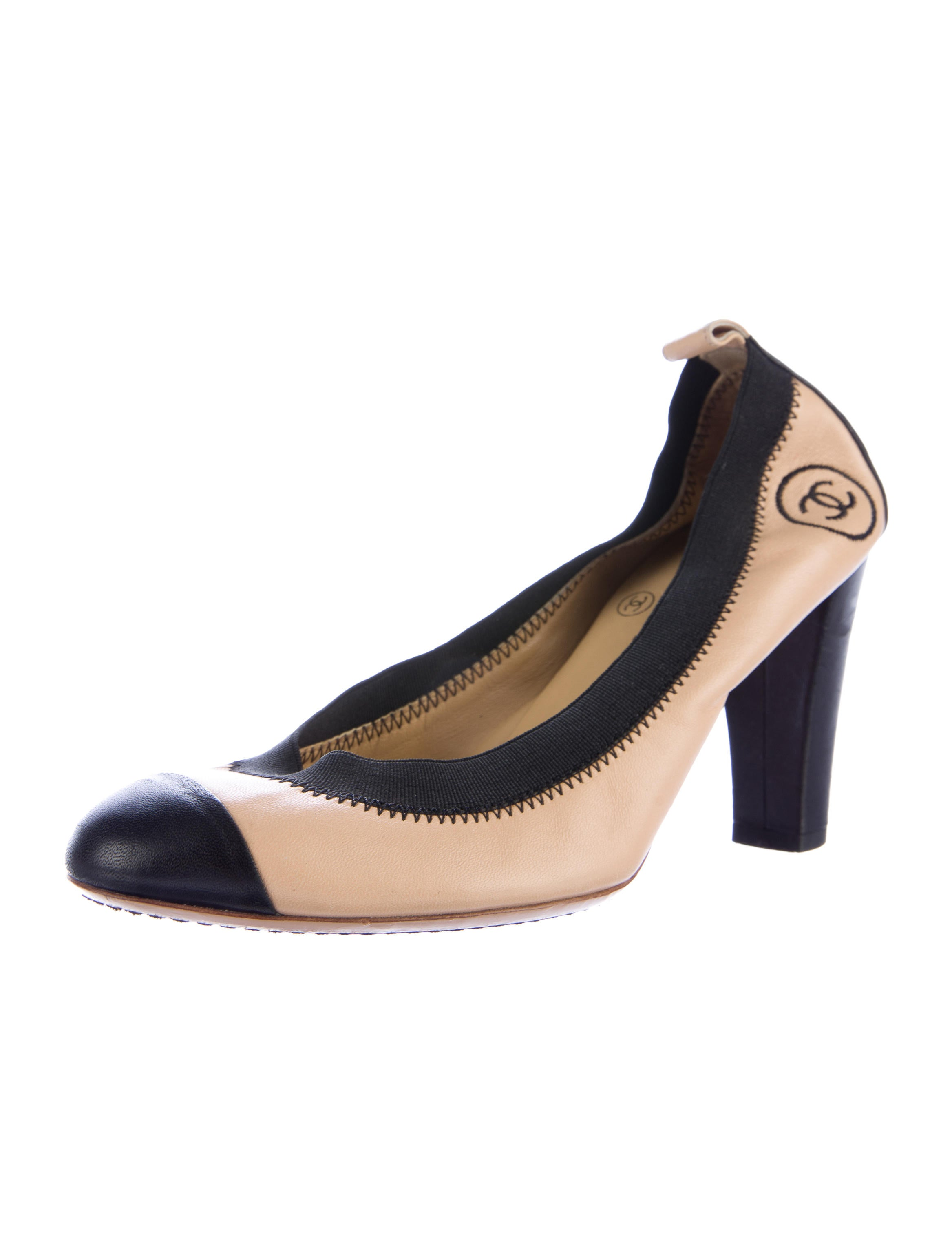 chanel leather stretch spirit pumps shoes cha160977
