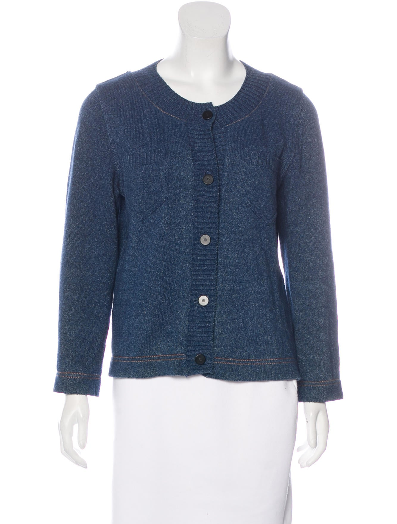 Chanel Knit Long Sleeve Cardigan - Clothing - CHA160992 The RealReal
