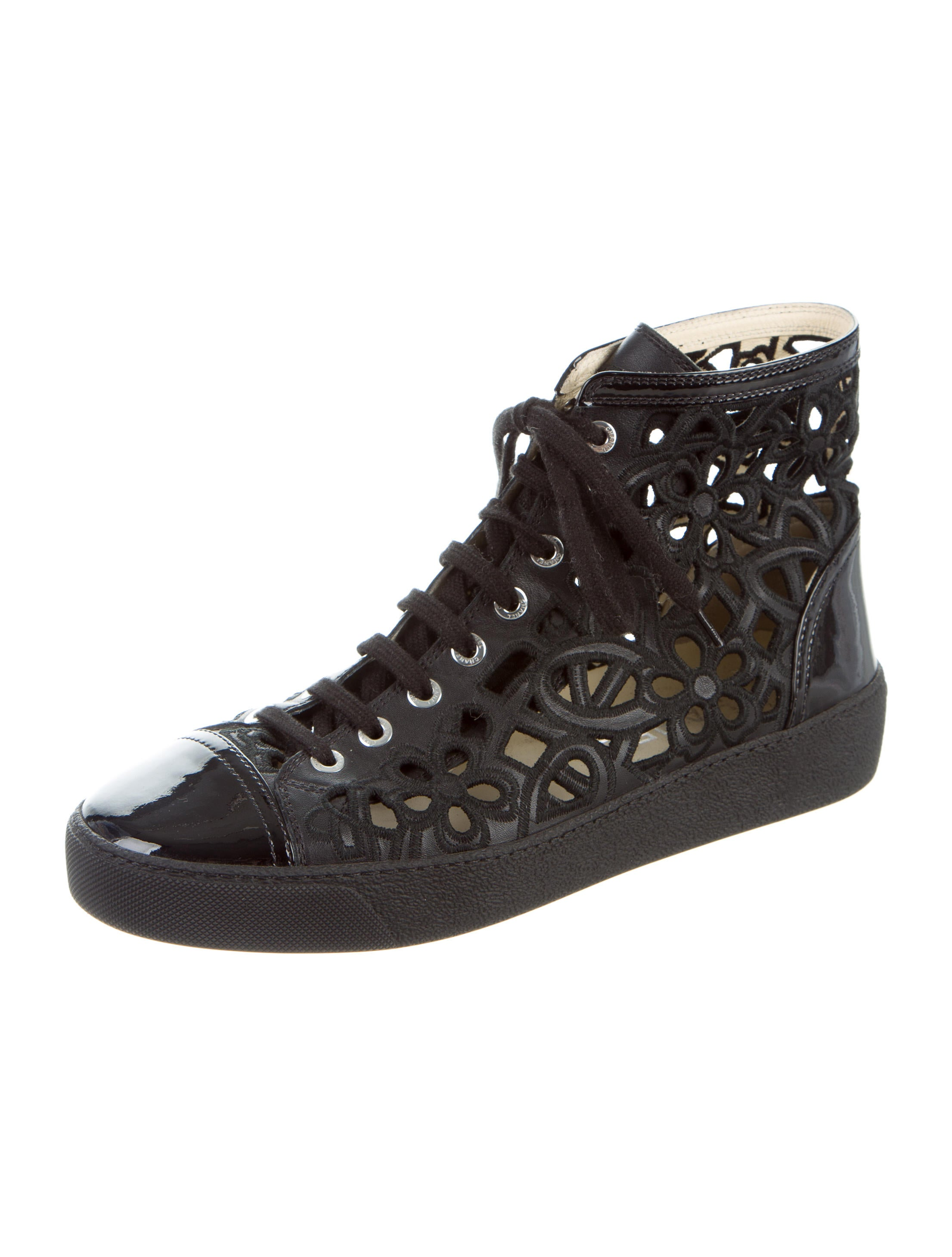 Chanel Cutout High Top Sneakers Shoes Cha161156 The