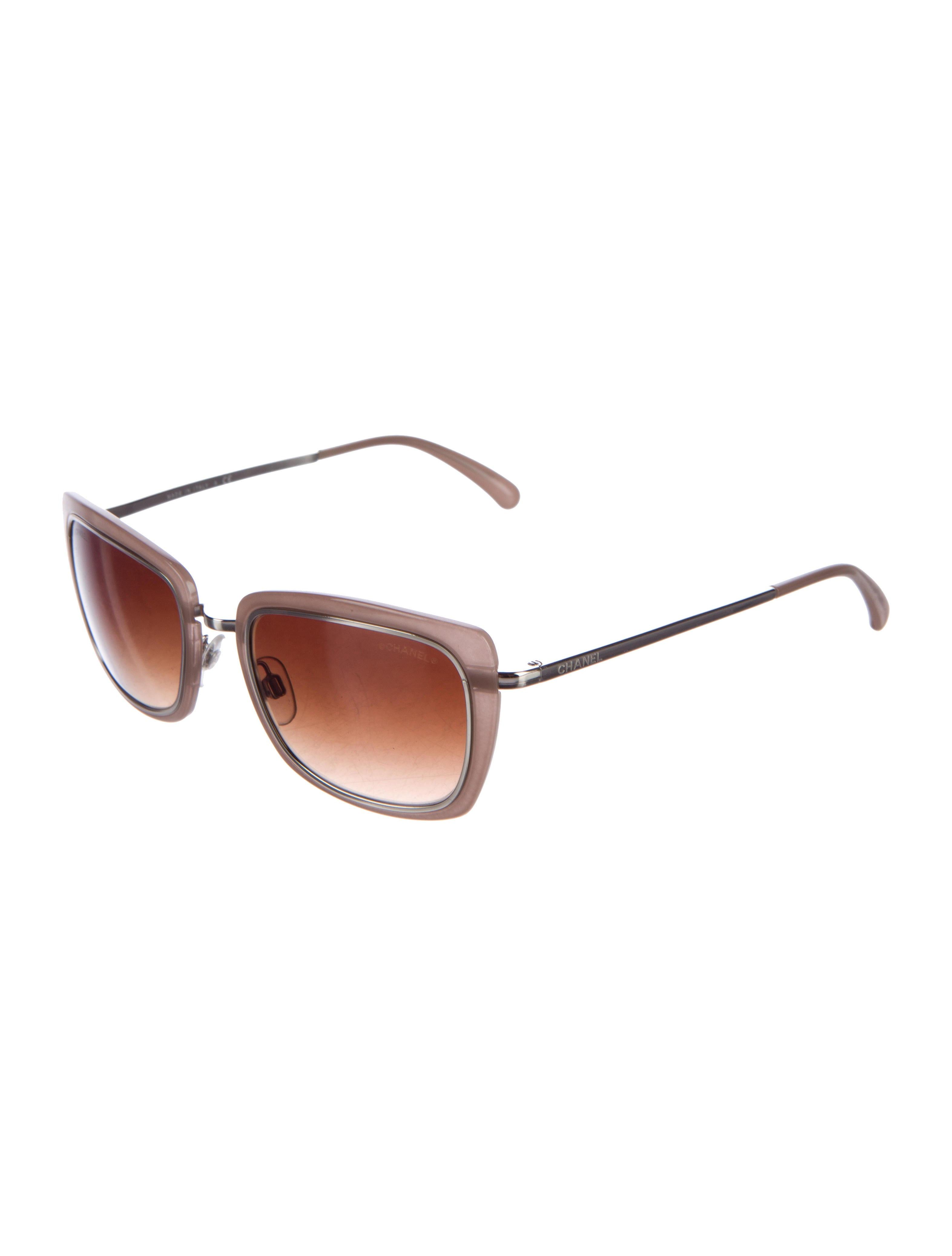 Chanel Rectangle Gradient Sunglasses - Accessories ...