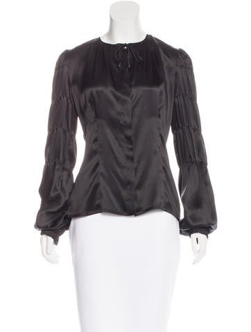 Silk Button-Up Blouse w/ Tags