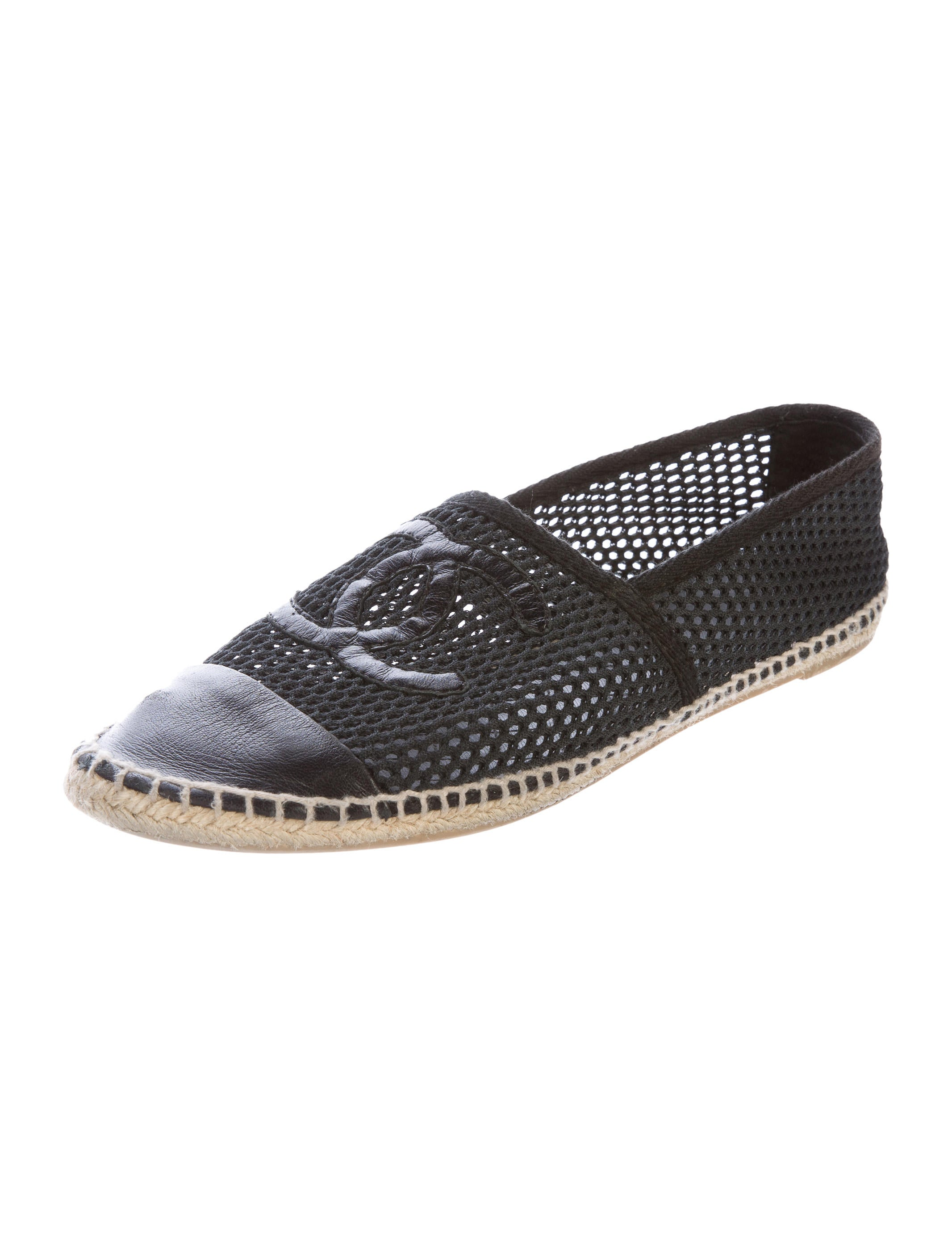 Chanel Mesh Espadrille Flats Shoes Cha161589 The