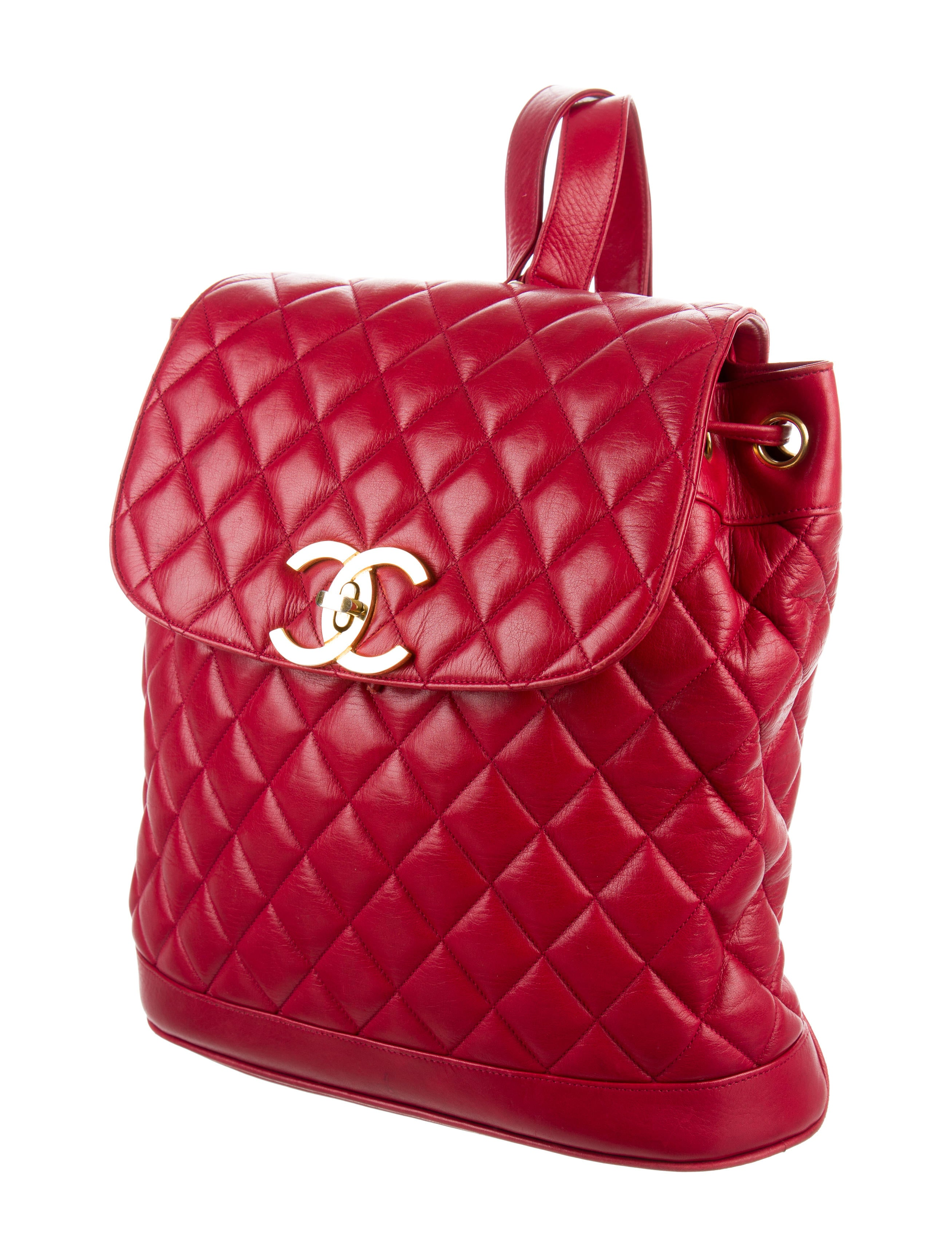 Chanel quilted leather backpack handbags cha161657 the realreal