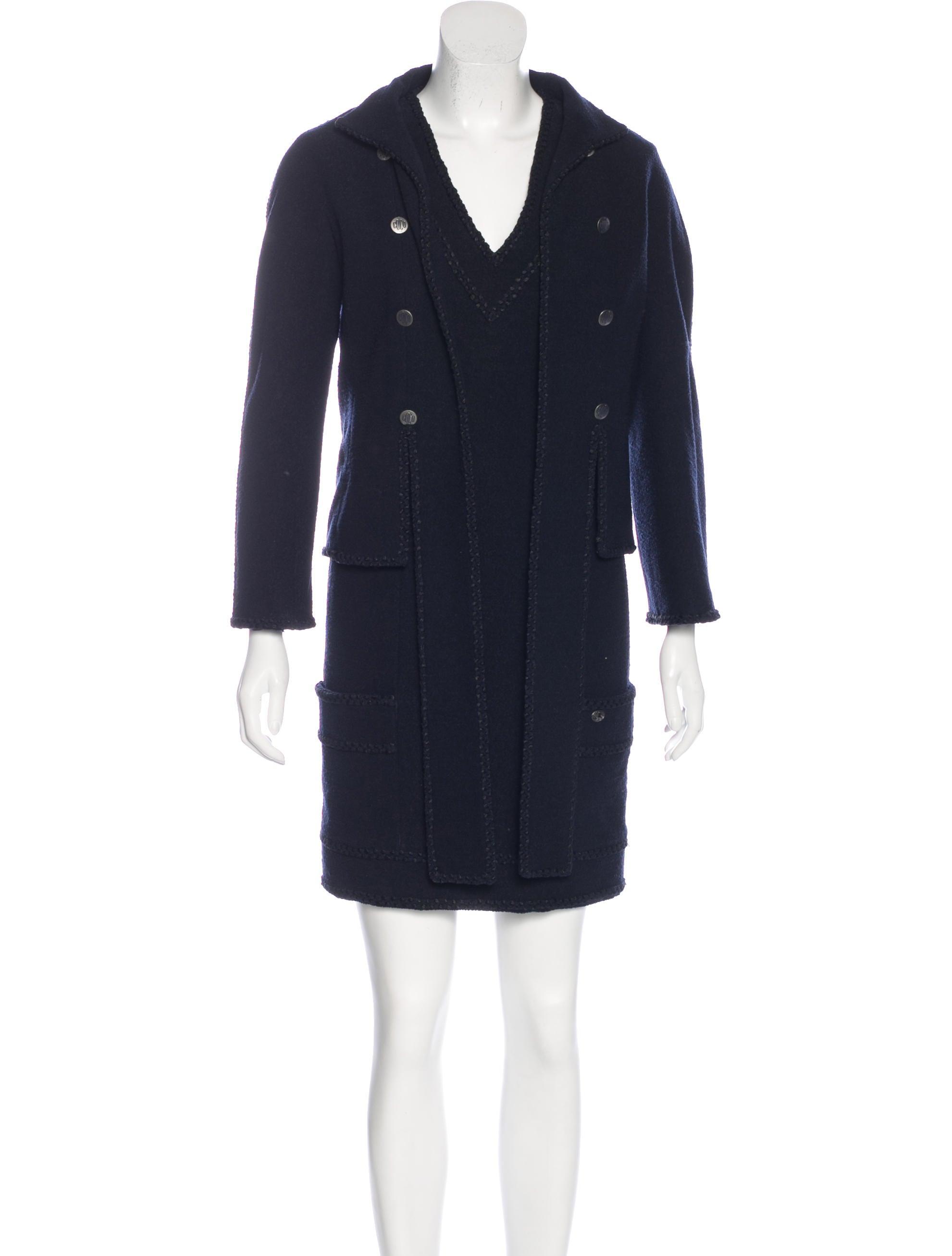 chanel wool dress set clothing cha161712 the realreal