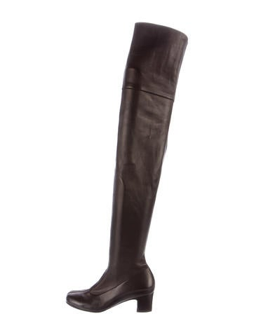 chanel leather thigh high boots shoes cha161803 the