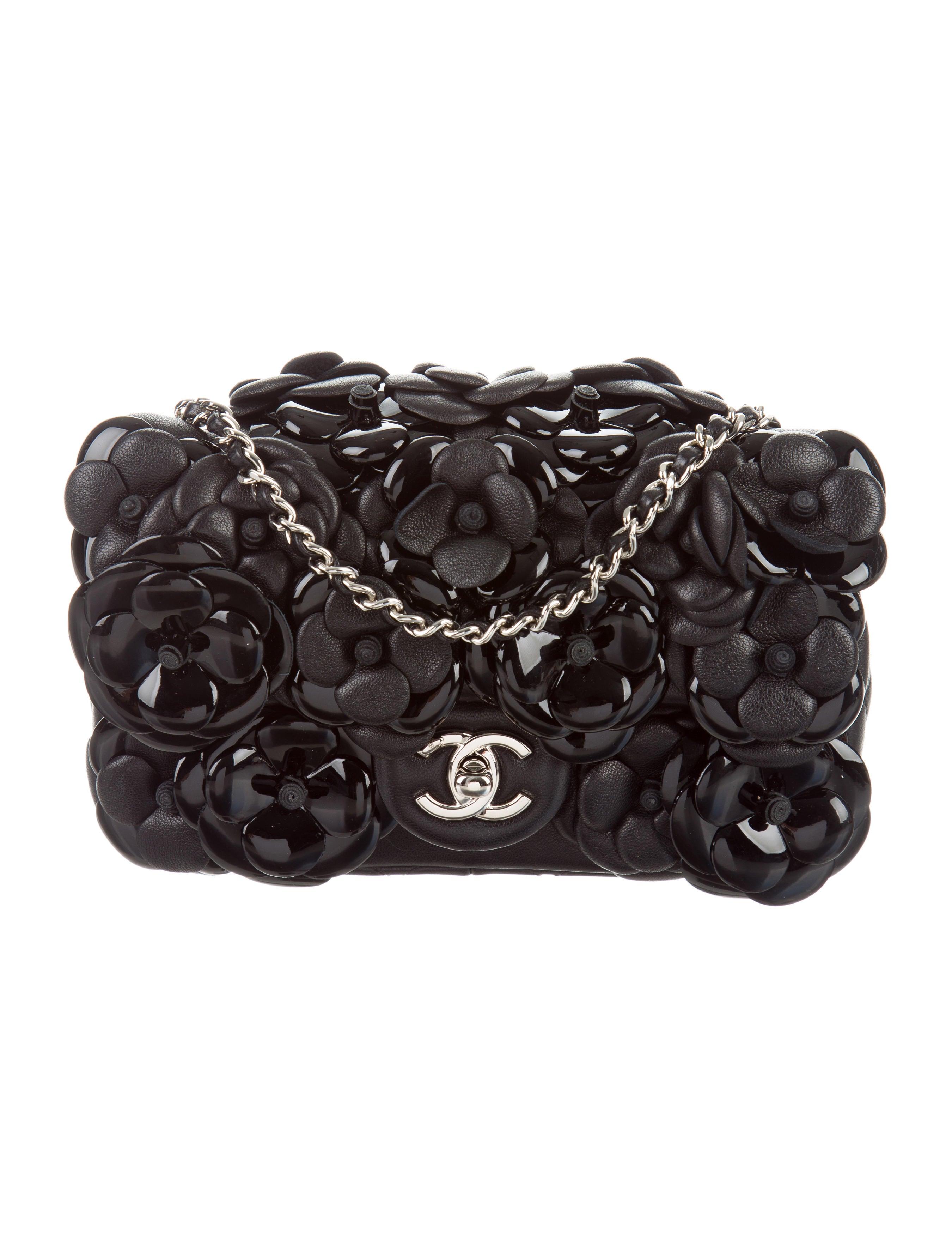 e60356201d0684 Chanel 2015 Mini Camellia Flap Bag - Handbags - CHA162326   The RealReal