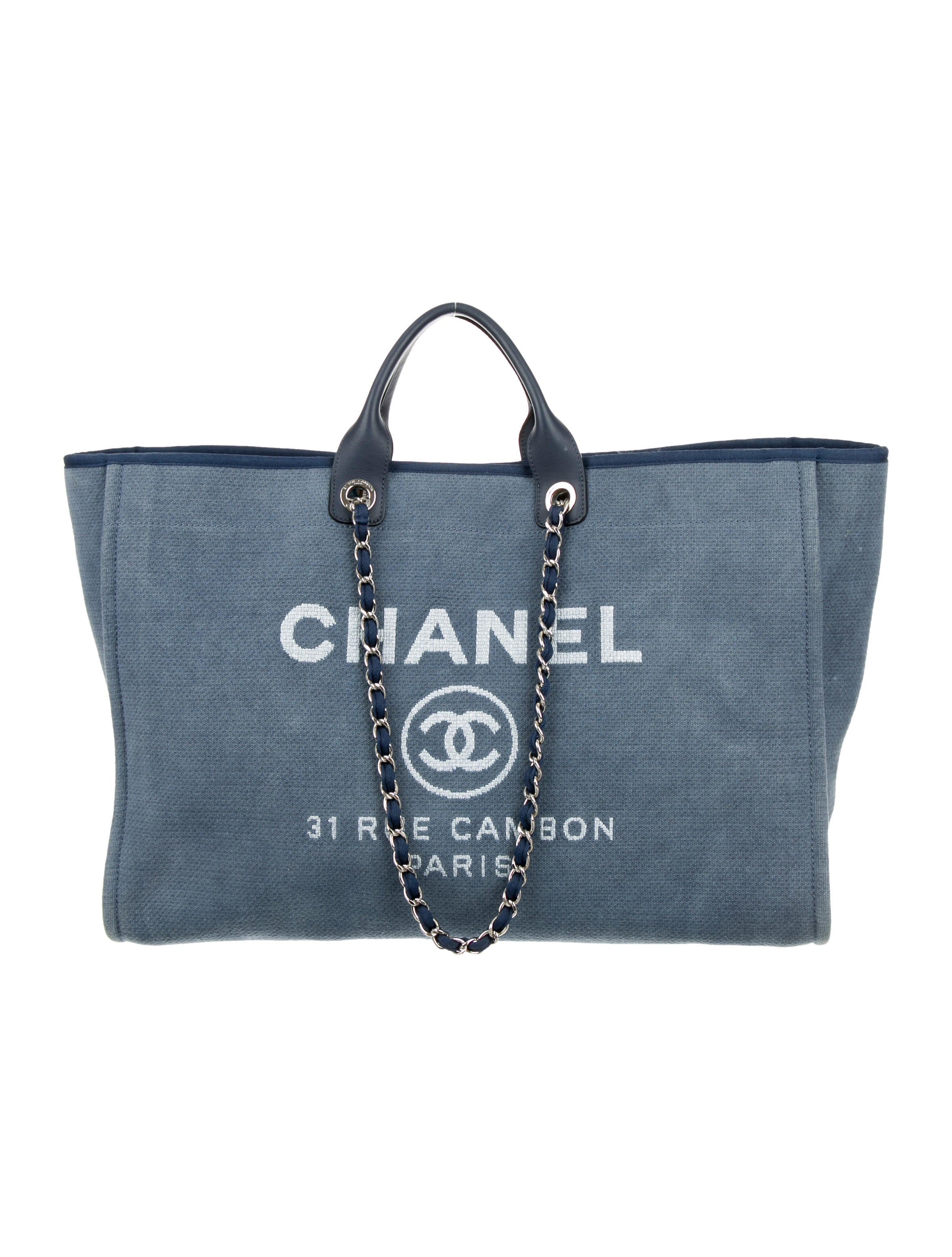 4e6ea441681bef Chanel Deauville Tote Extra Large Bag - Handbags - CHA162730 | The ...