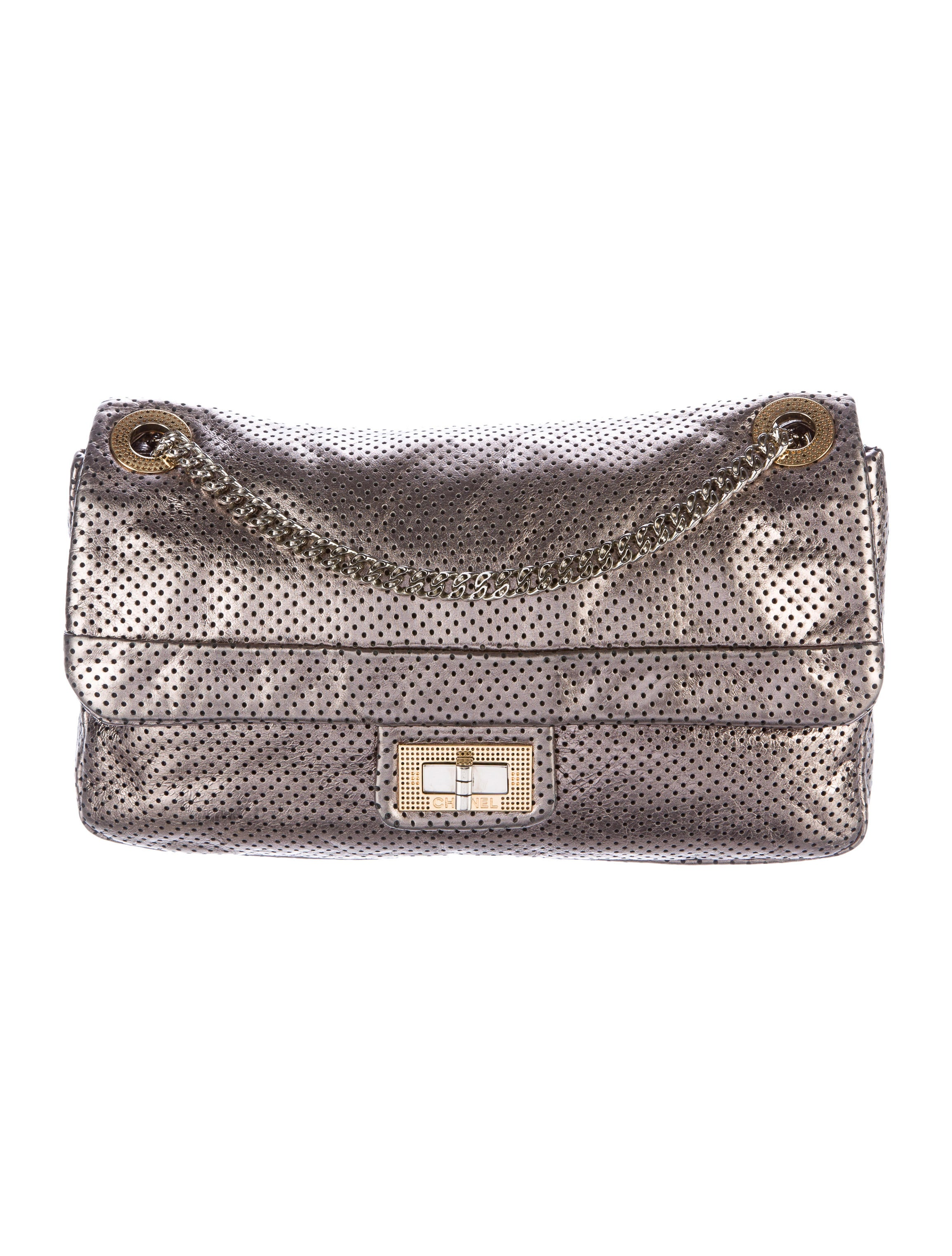Chanel Perforated Drill Flap Bag Handbags CHA162795  : CHA1627951enlarged from www.therealreal.com size 2308 x 3045 jpeg 670kB