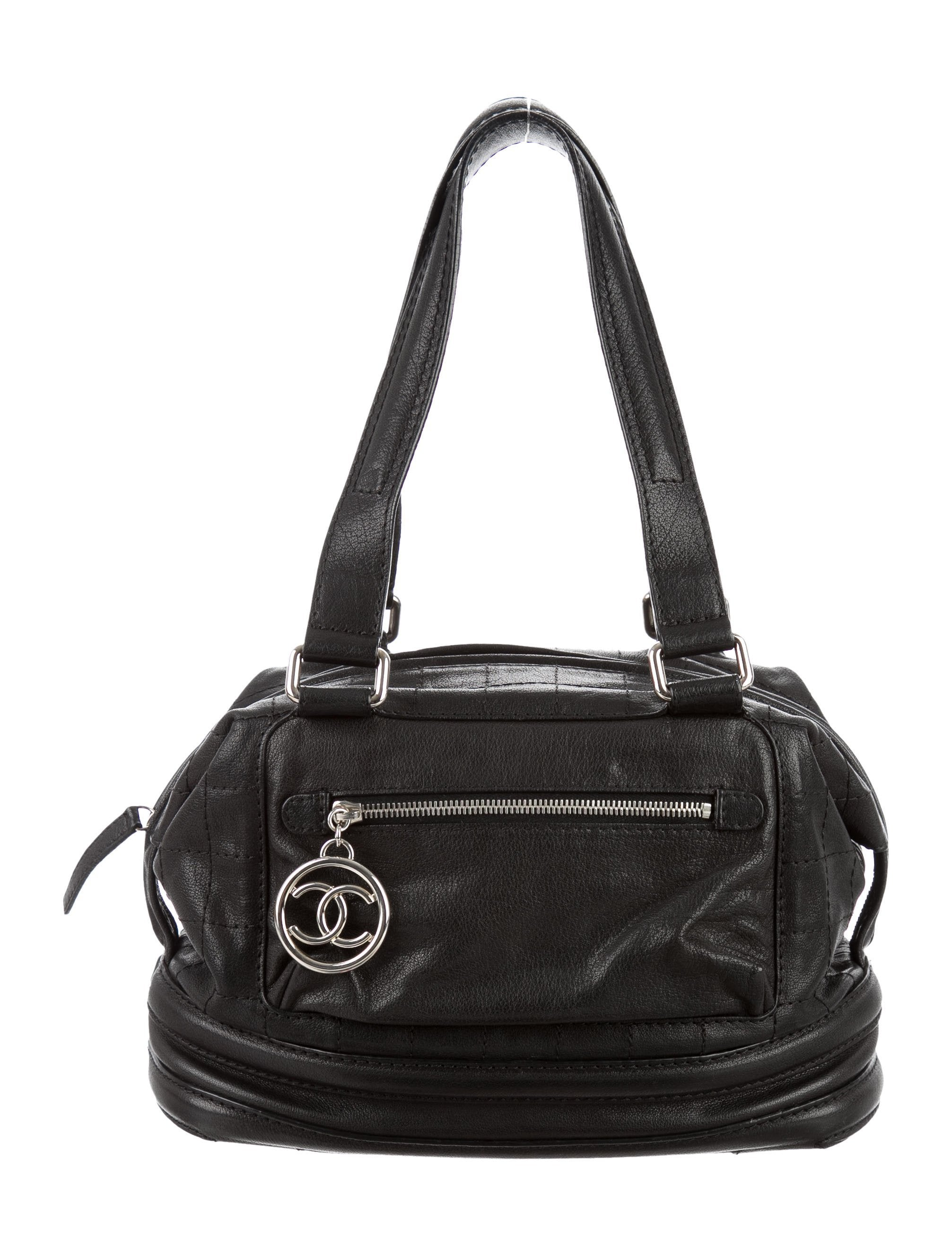 Chanel Essential Square Quilted Bowler Bag