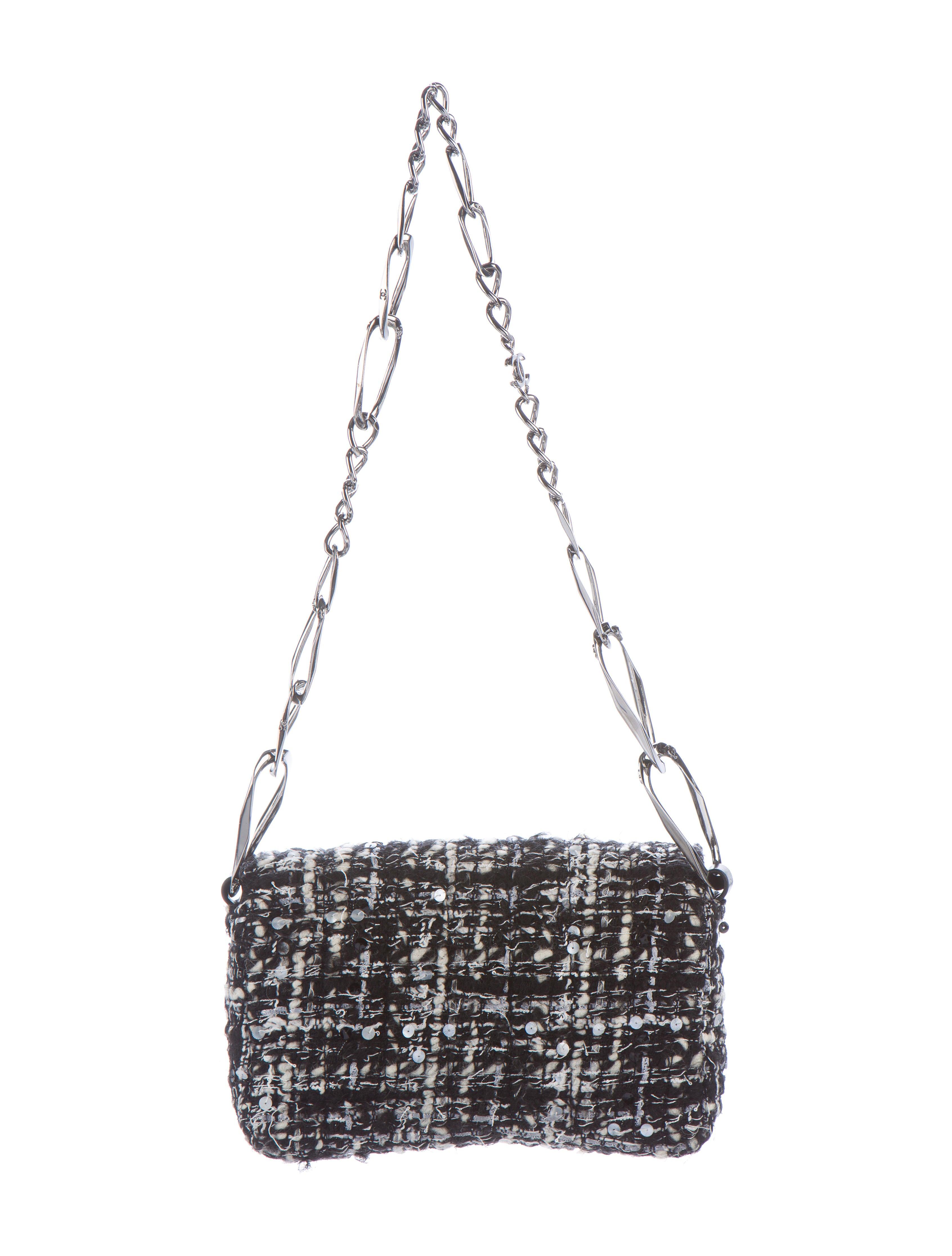 Chanel Tweed Flap Bag Handbags Cha163643 The Realreal