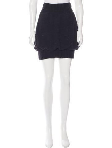 Chanel Cashmere-Blend Knit Skirt None
