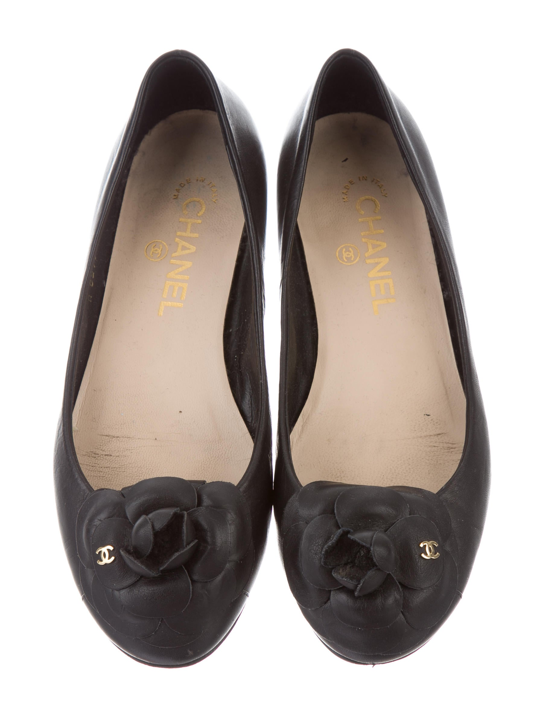 Chanel Leather Camellia Flats Shoes Cha163995 The