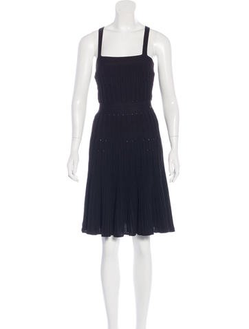 Chanel Pleated Knit Dress None