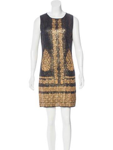 Chanel Metallic Knit Dress None