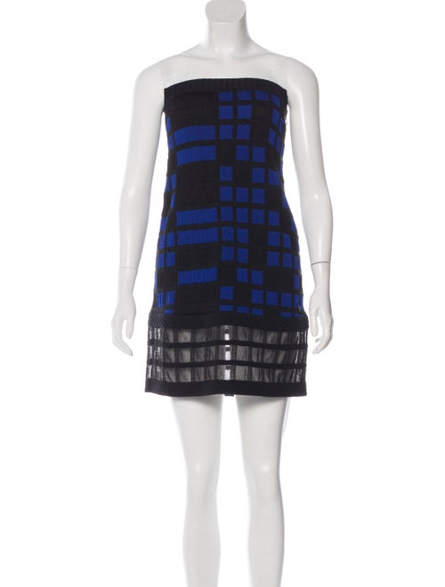 Chanel Quilted Strapless Dress Black
