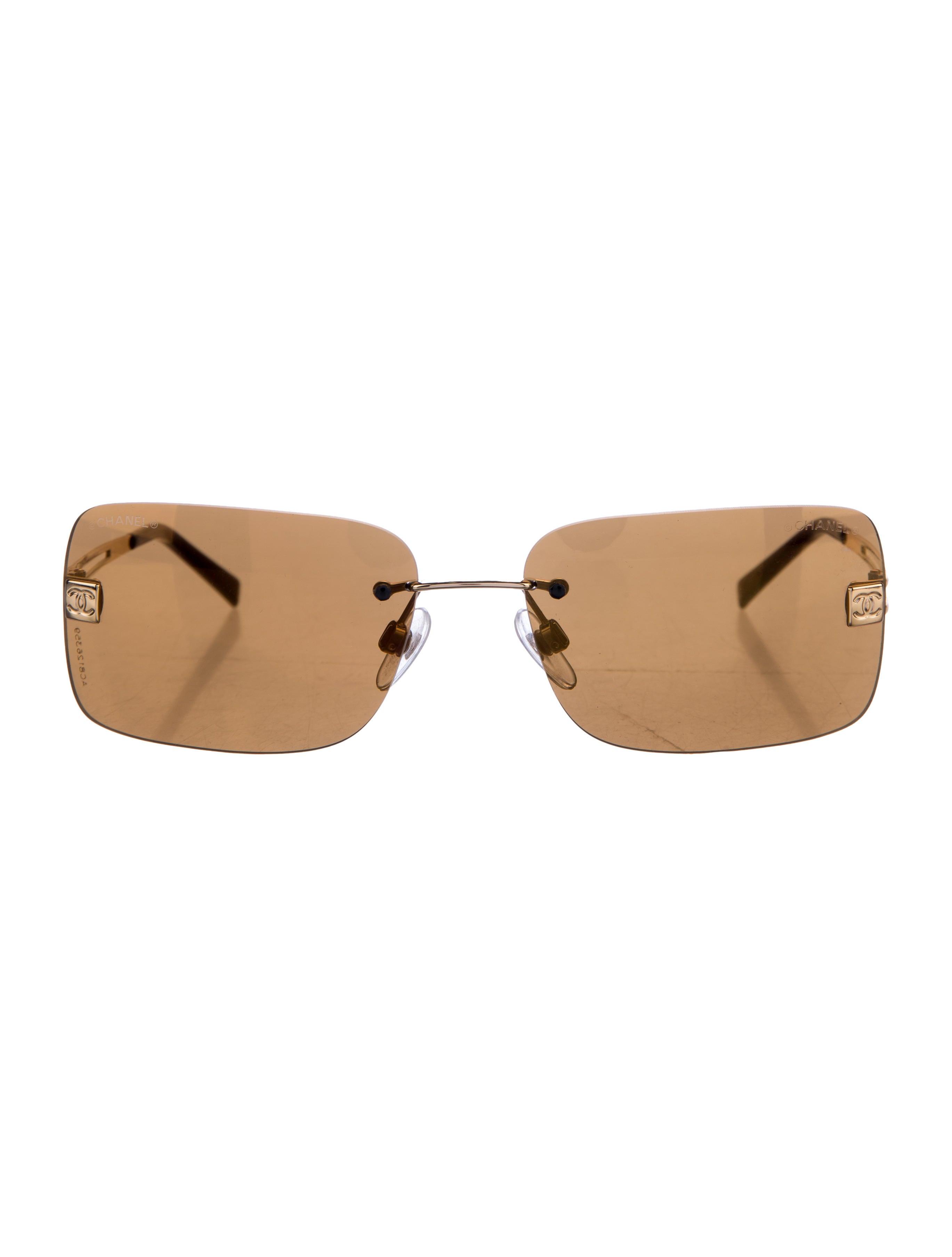 Rimless Chanel Glasses : Chanel Rimless CC Sunglasses - Accessories - CHA164434 ...