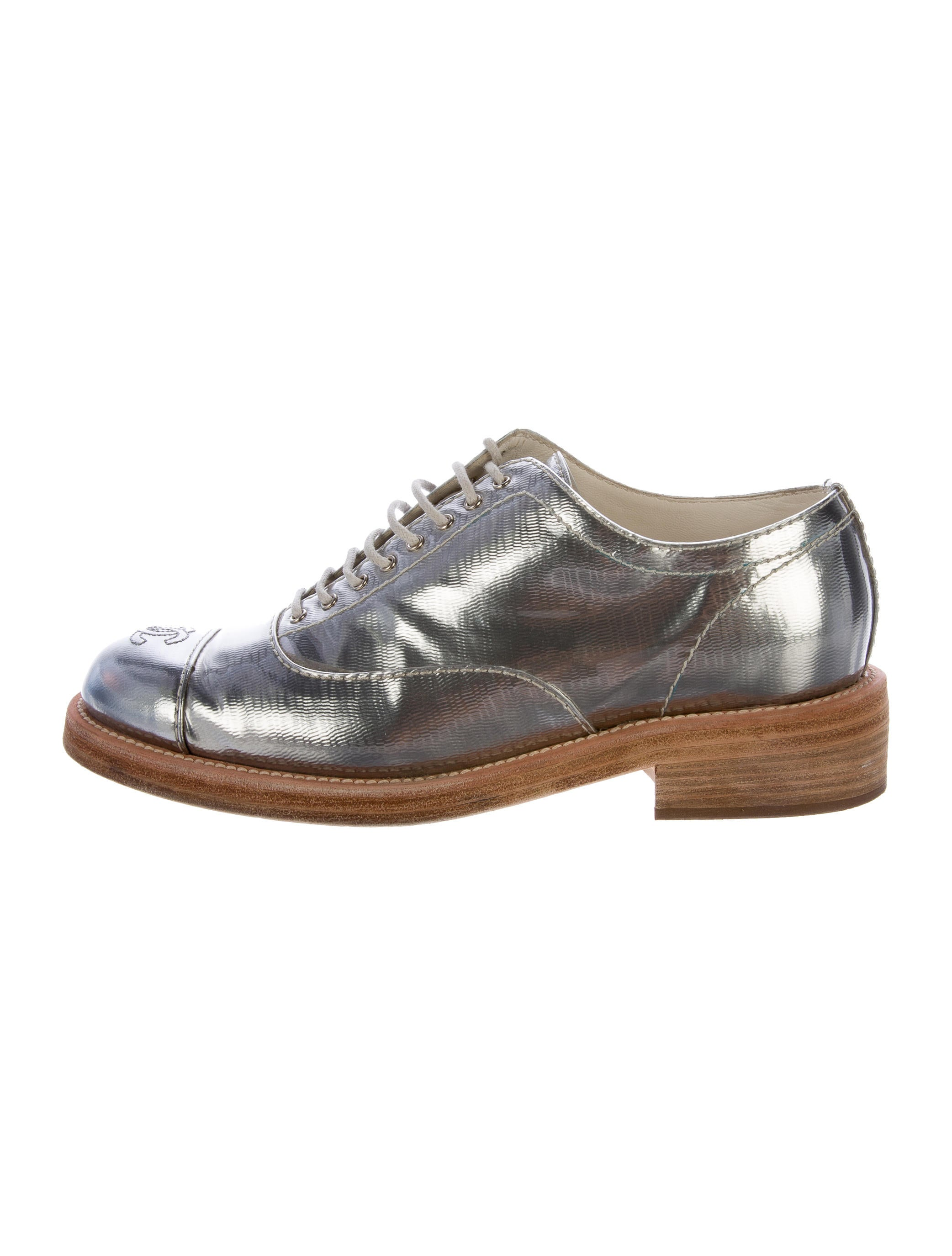 Chanel Metallic Cc Oxfords Shoes Cha164589 The Realreal