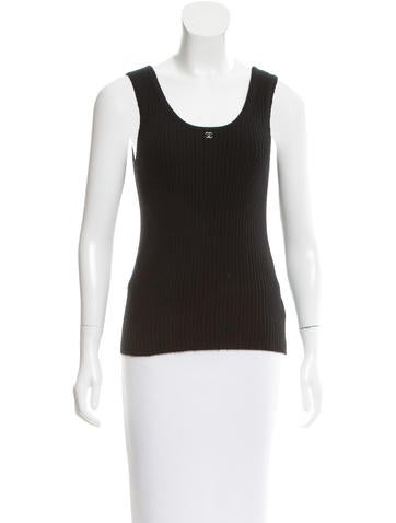 Chanel Cashmere Logo-Accented Top None