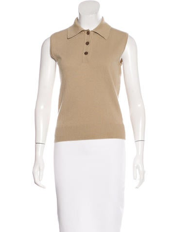 Chanel Collared Cashmere Top None