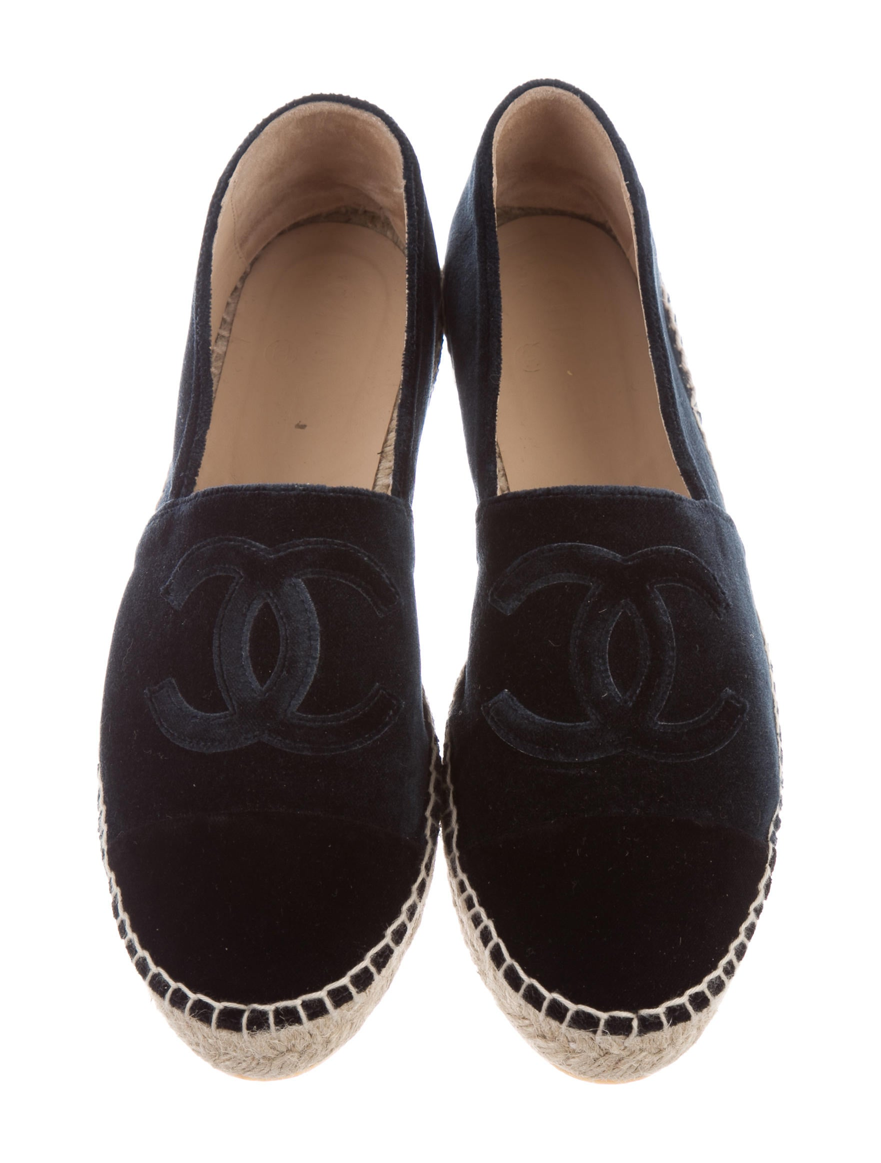 Chanel Velvet Espadrille Flats Shoes Cha164804 The