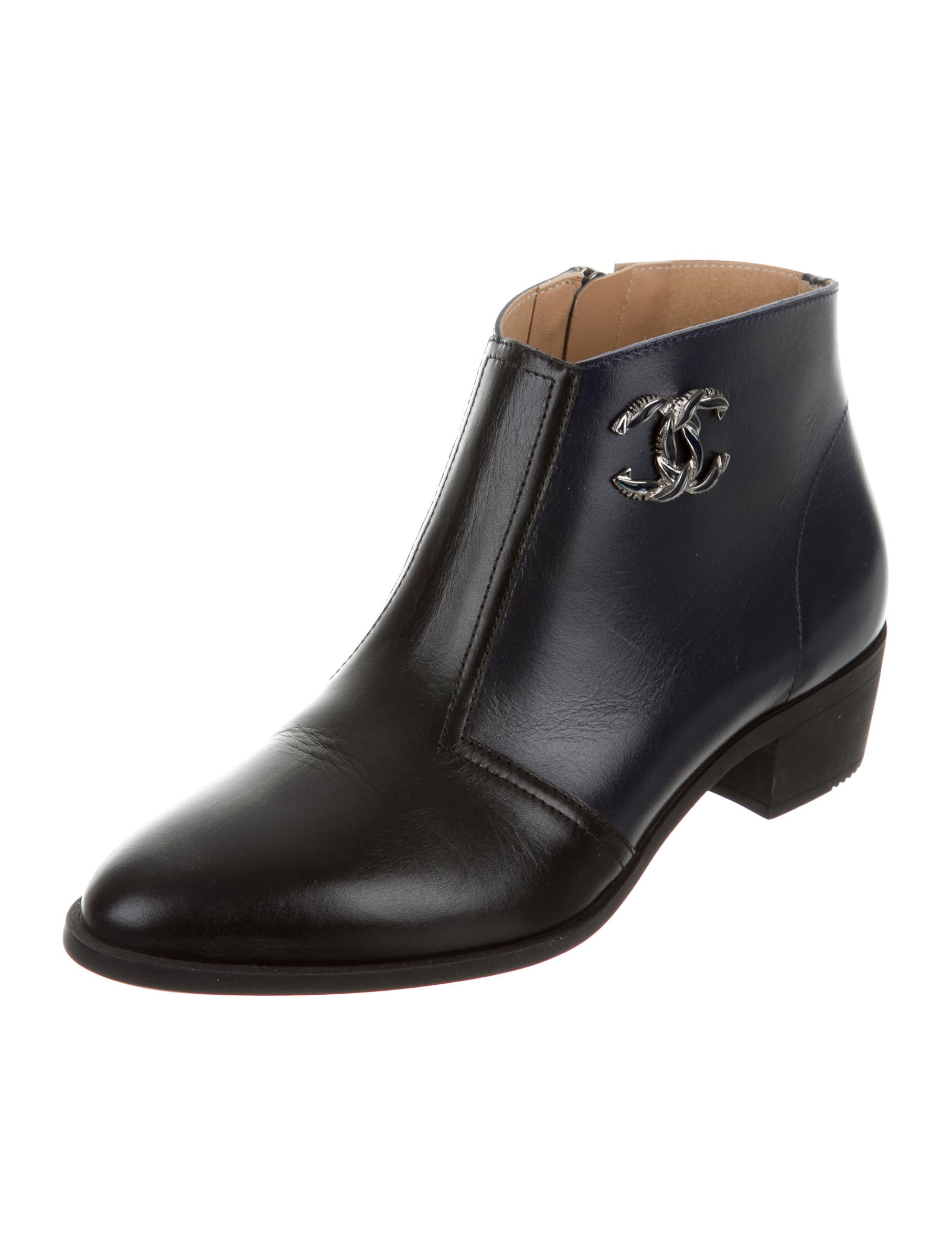 Chanel 2016 Cc Ankle Boots Shoes Cha165341 The Realreal
