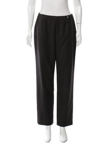 Chanel Wool & Cashmere-Blend Pants None