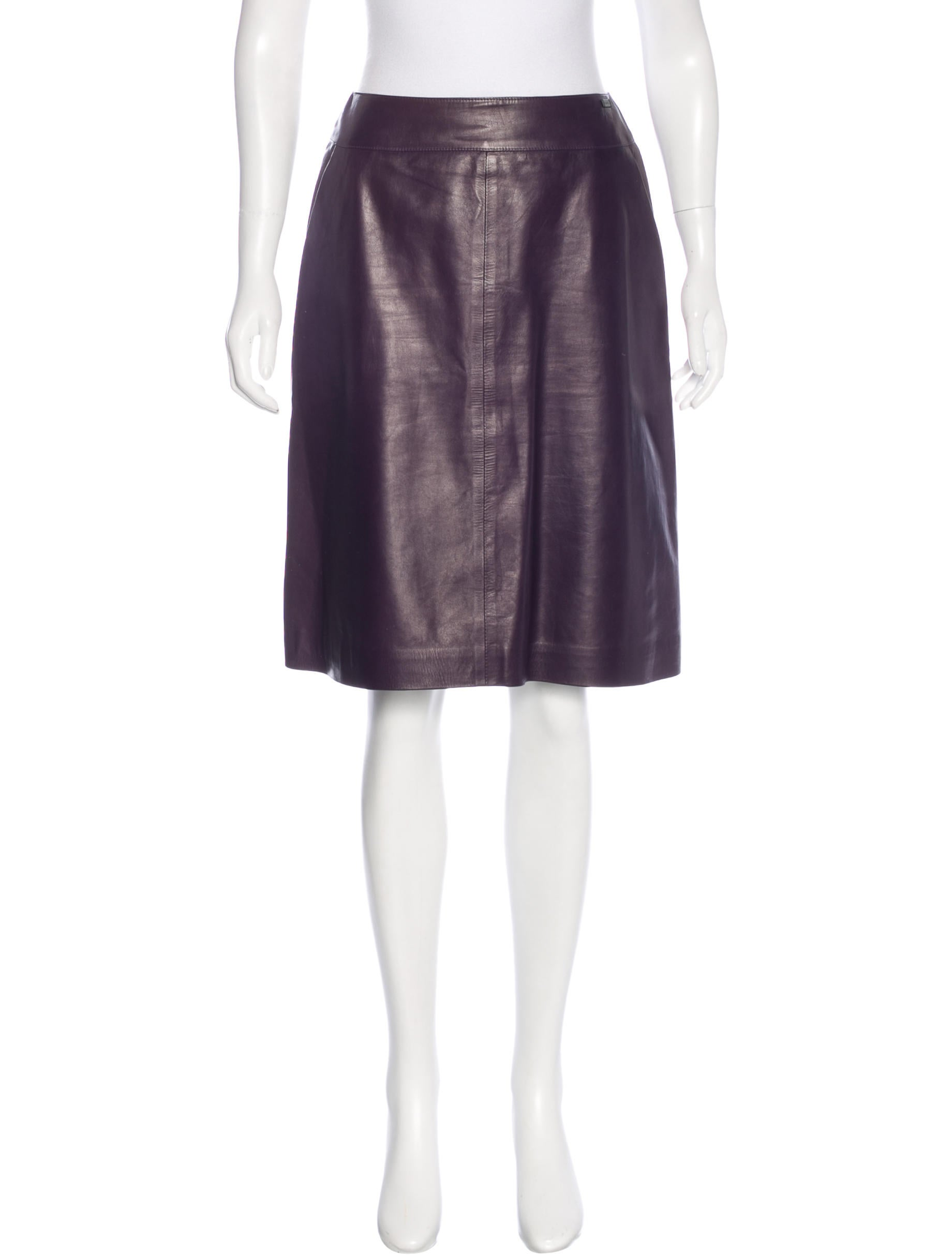 chanel leather a line skirt clothing cha166097 the