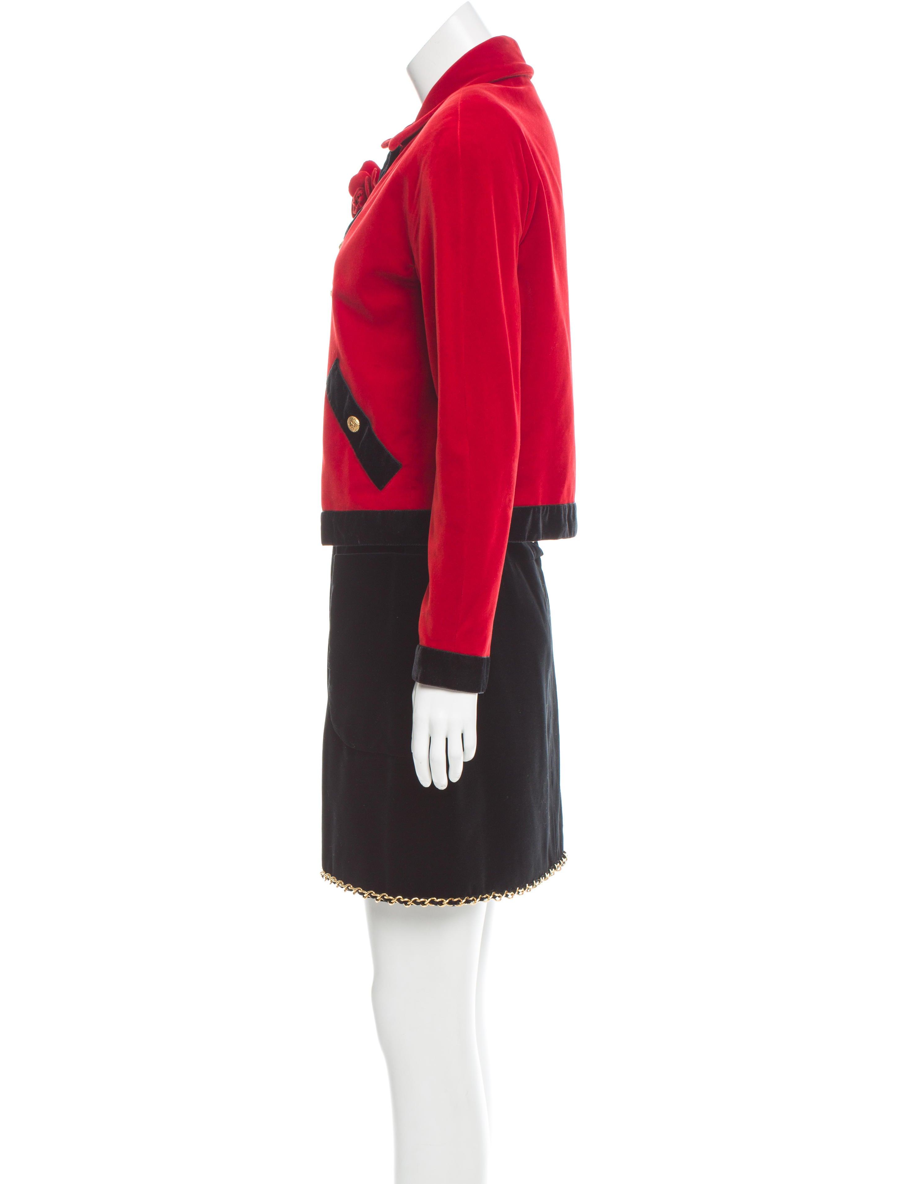 Velvet Skirt Suit 11