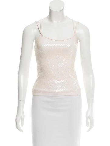 Chanel Sequined Sleeveless Top w/ Tags None
