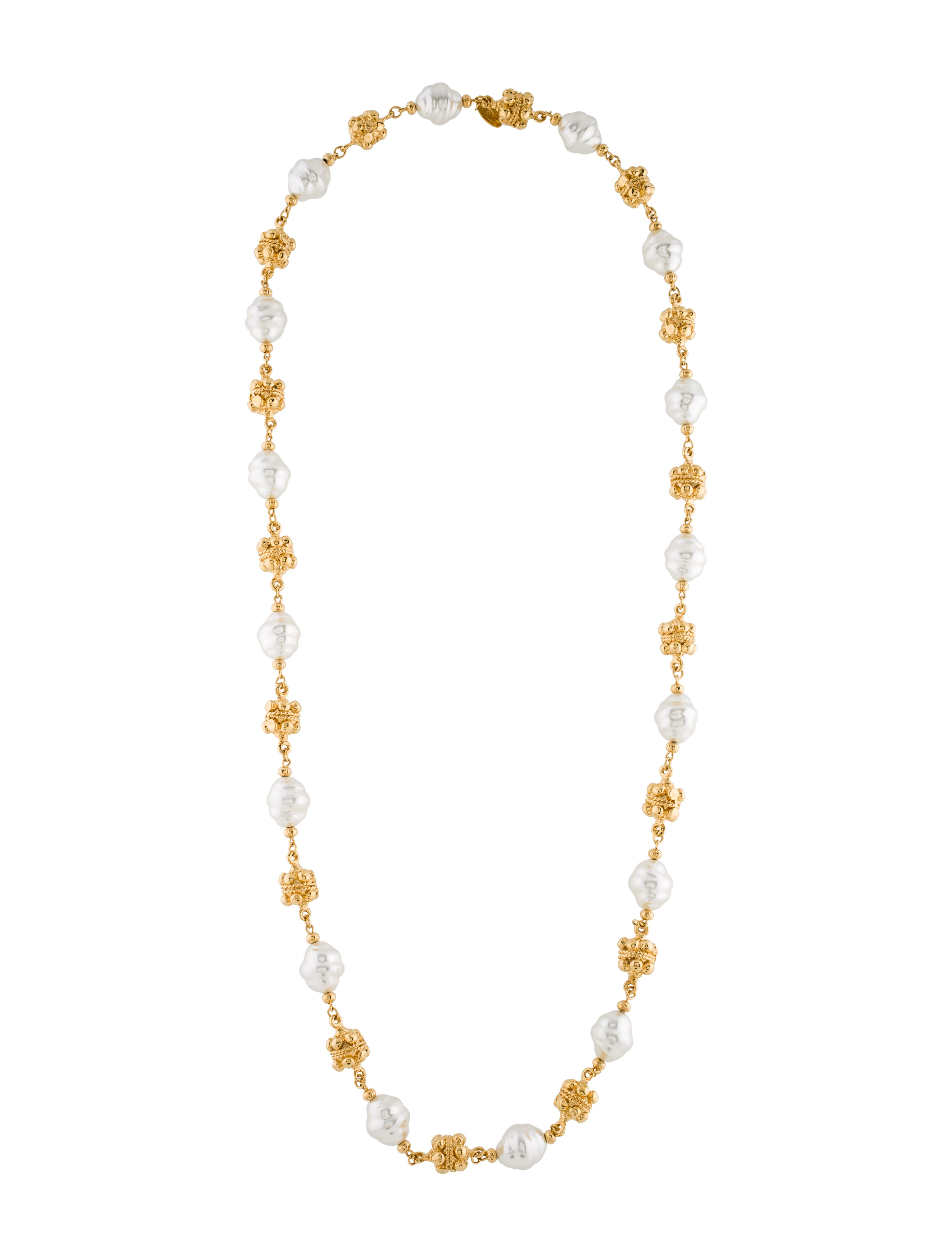 chanel faux pearl necklace necklaces cha167475 the