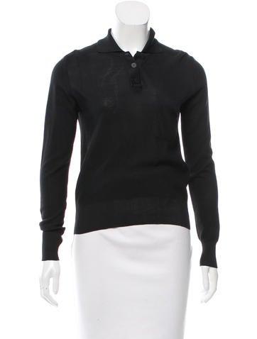 Chanel Silk Polo Top None