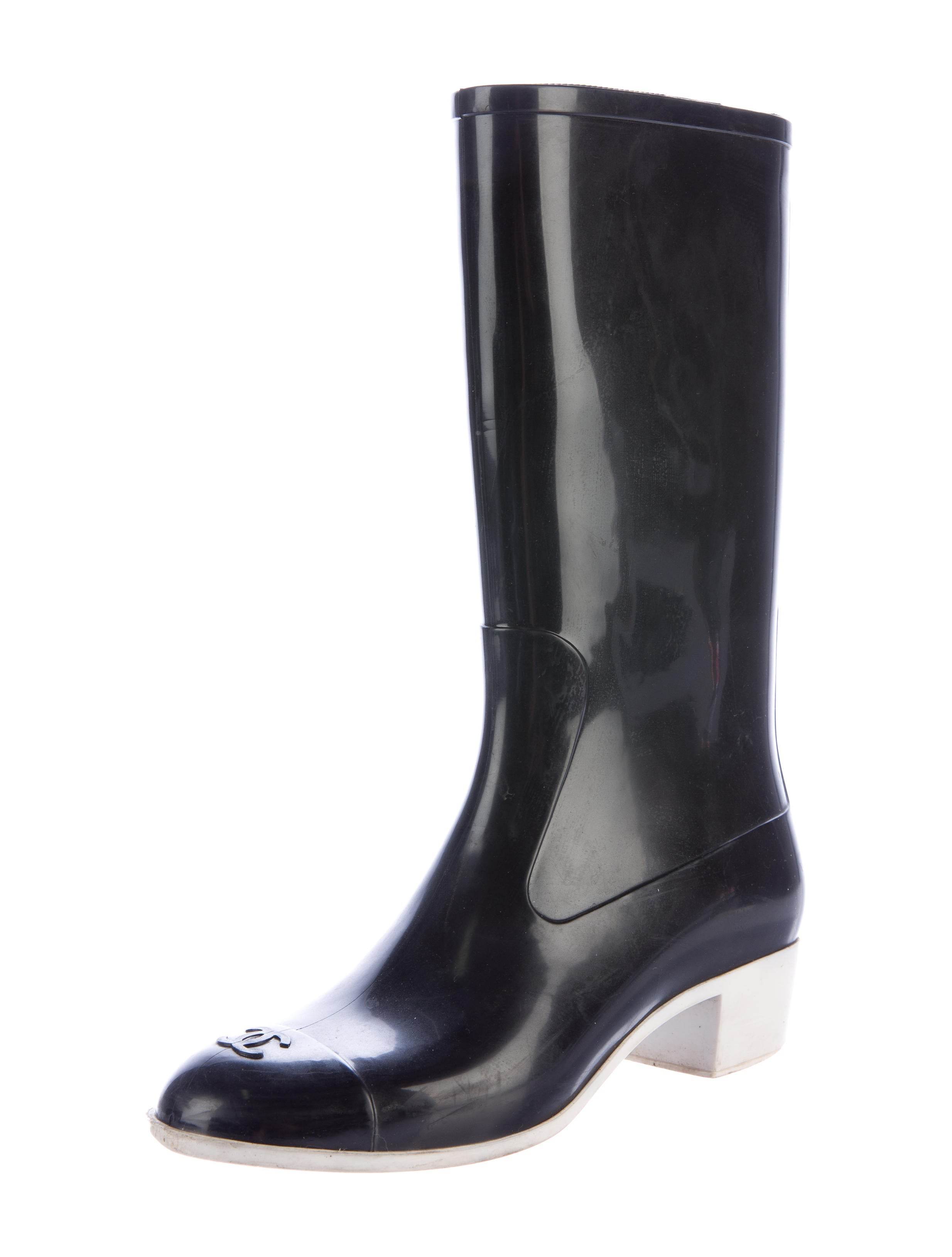 chanel cc boots shoes cha167733 the realreal