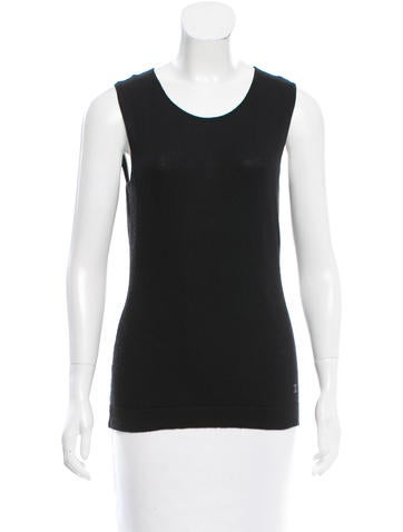 Chanel Wool Sleeveless Top None