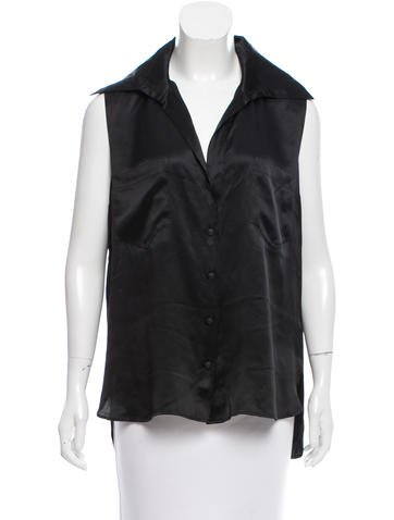 Chanel Silk Button-Up Top None