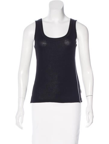 Chanel Mesh-Trimmed Sleeveless Top None