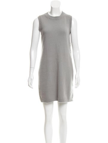 Chanel Pearlescent-Accented Cashmere-Blend Dress None