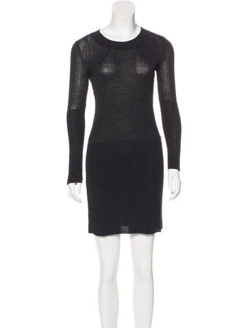 Chanel Metallic Sweater Dress None