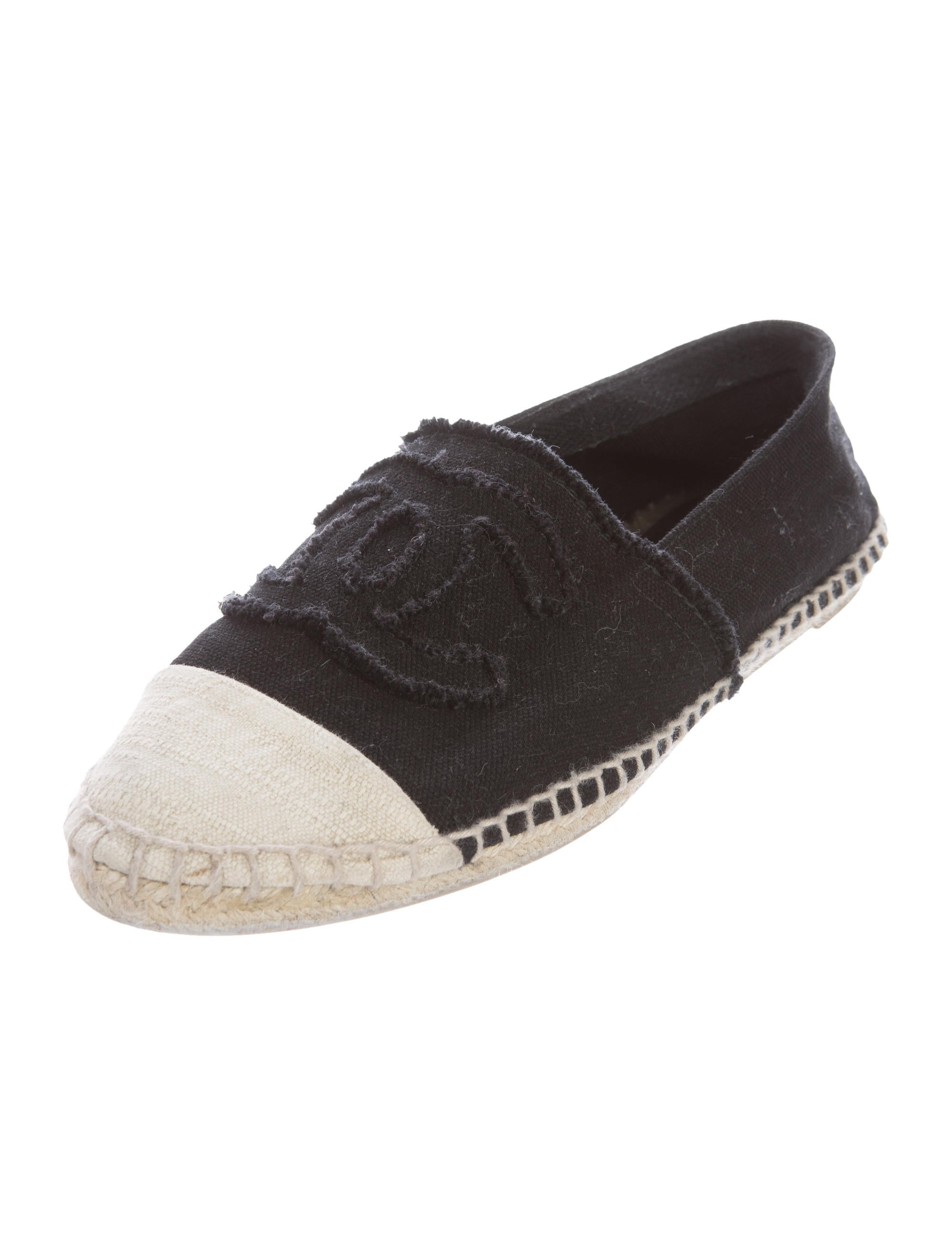 chanel canvas espadrille flats shoes cha169565 the