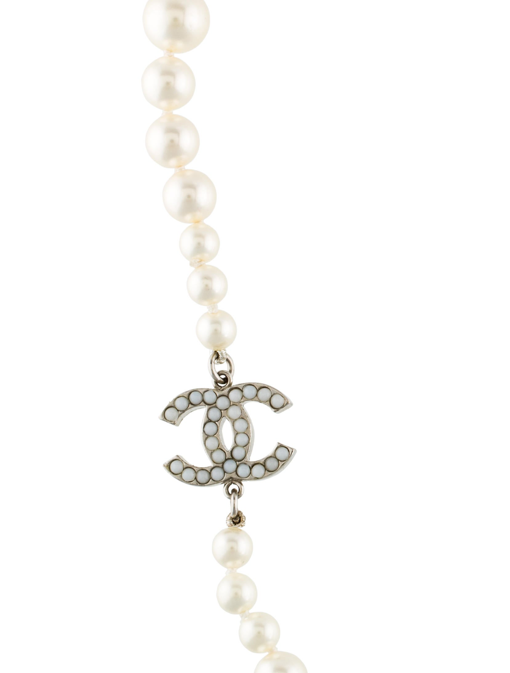 chanel faux pearl necklace necklaces cha169661 the